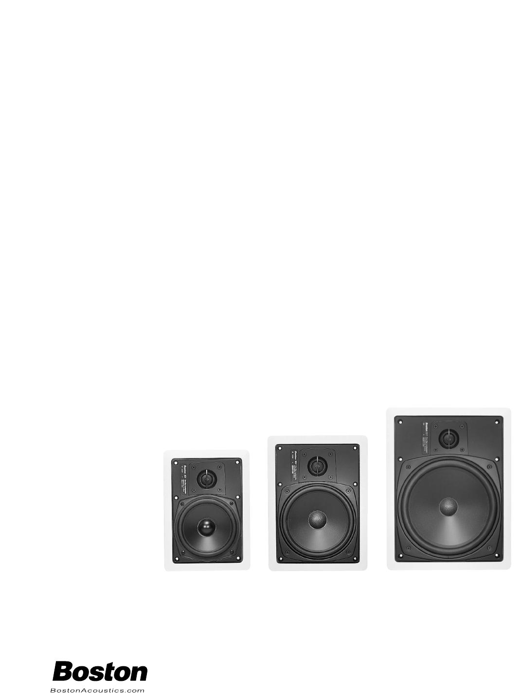 boston acoustics speaker 351 361 381 user guide manualsonline com rh audio manualsonline com Boston Acoustics TV 20 Boston Acoustics SoundWare Speakers