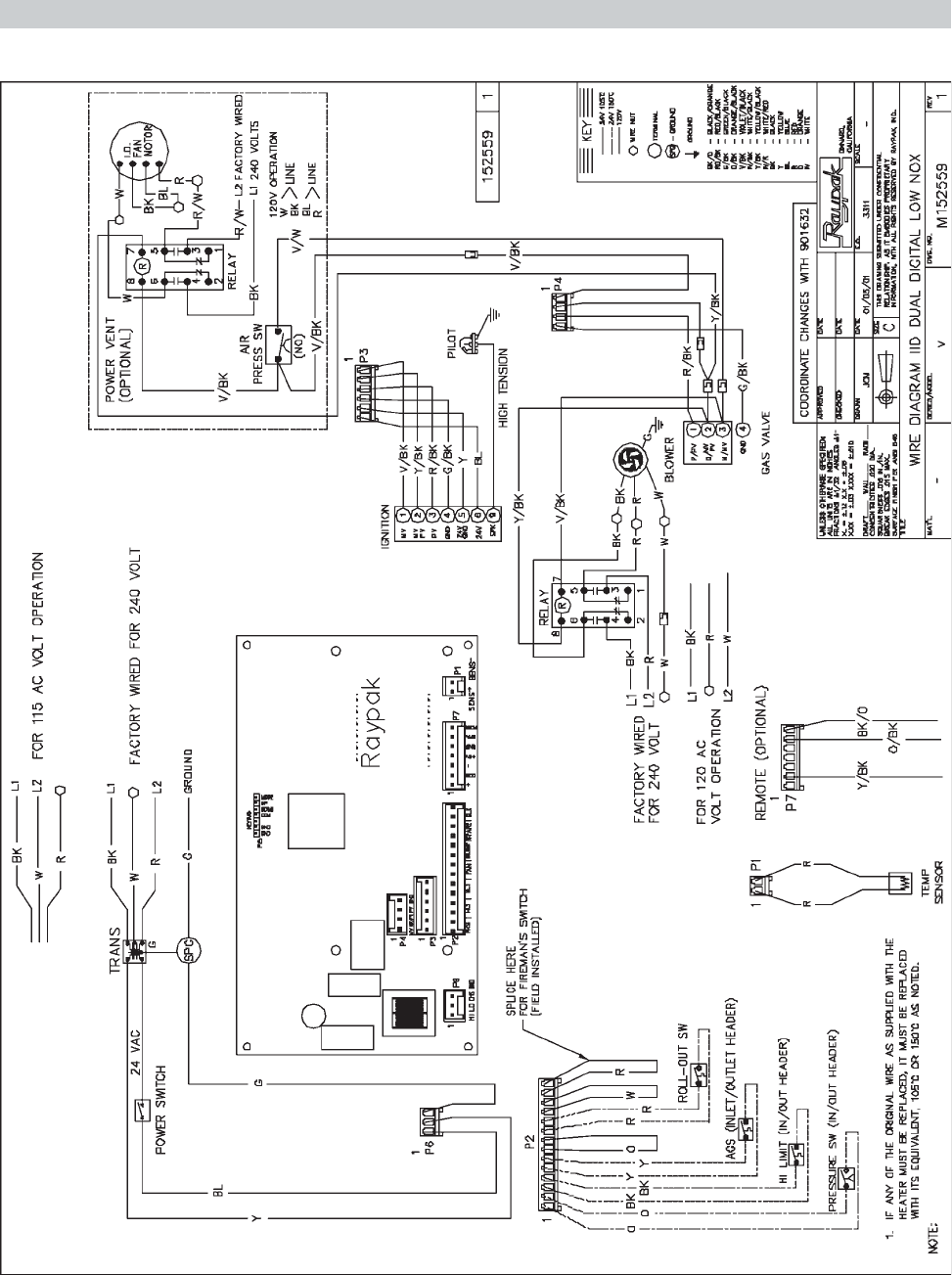 raypak pool heater wiring diagram raypak free engine image for user manual