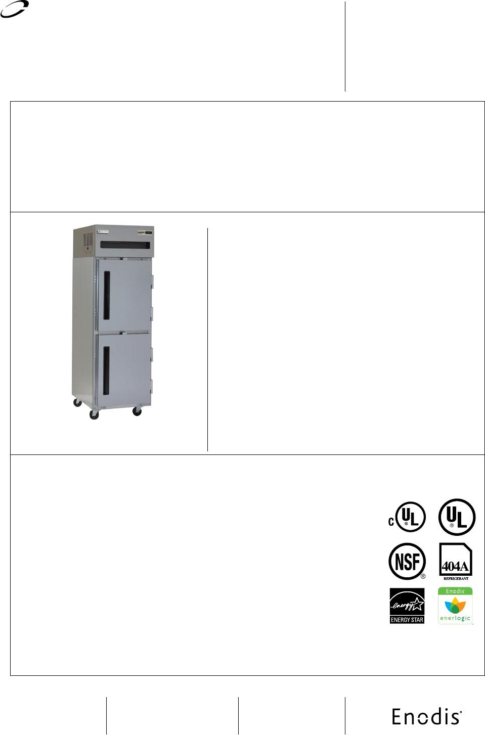 Delfield 6076XL-S Refrigerator User Manual