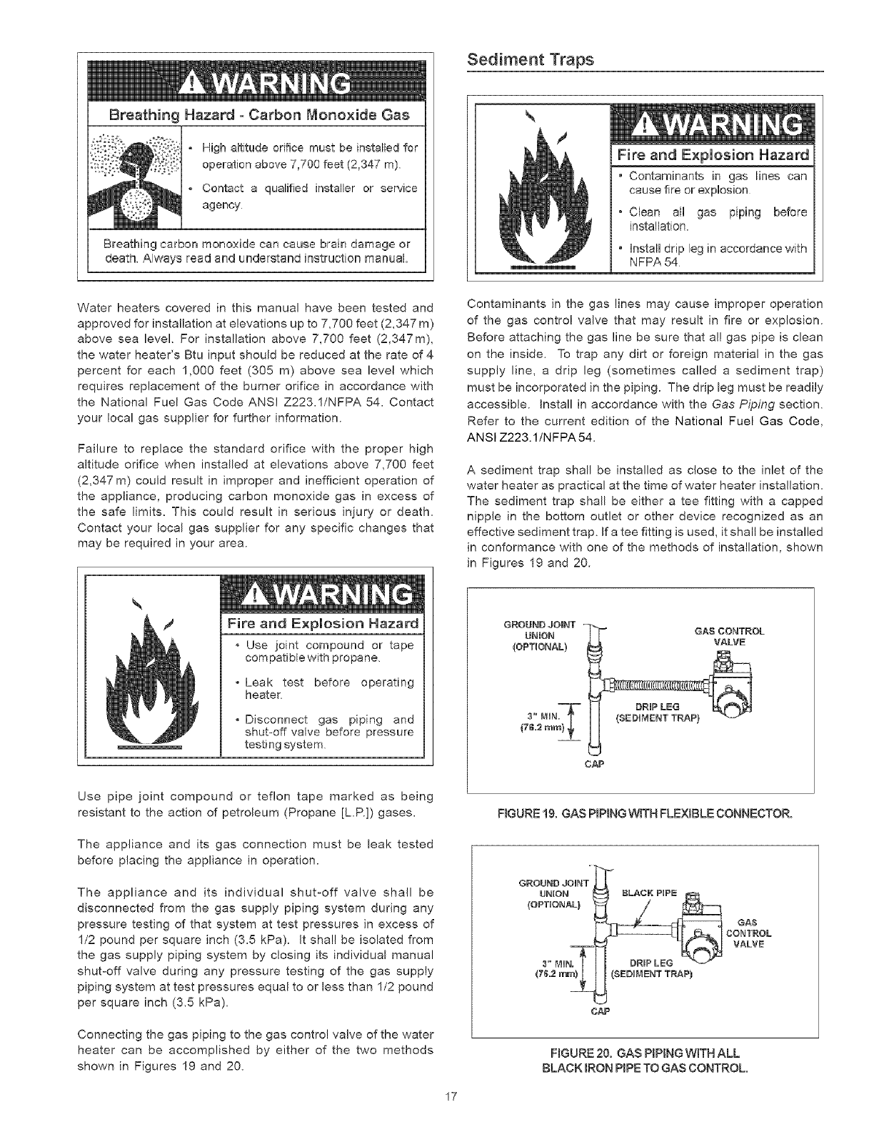 page 17 of kenmore water heater 153336466 user guide. Black Bedroom Furniture Sets. Home Design Ideas