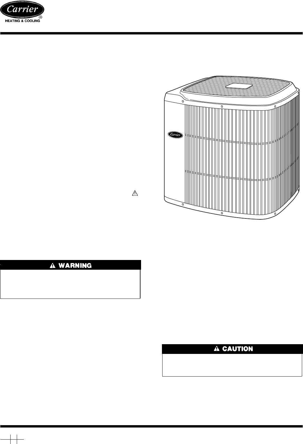 #666666 Carrier Air Conditioner 38TRA User Guide ManualsOnline.com Most Effective 7985 Air Conditioner Installation Safety pictures with 1031x1508 px on helpvideos.info - Air Conditioners, Air Coolers and more