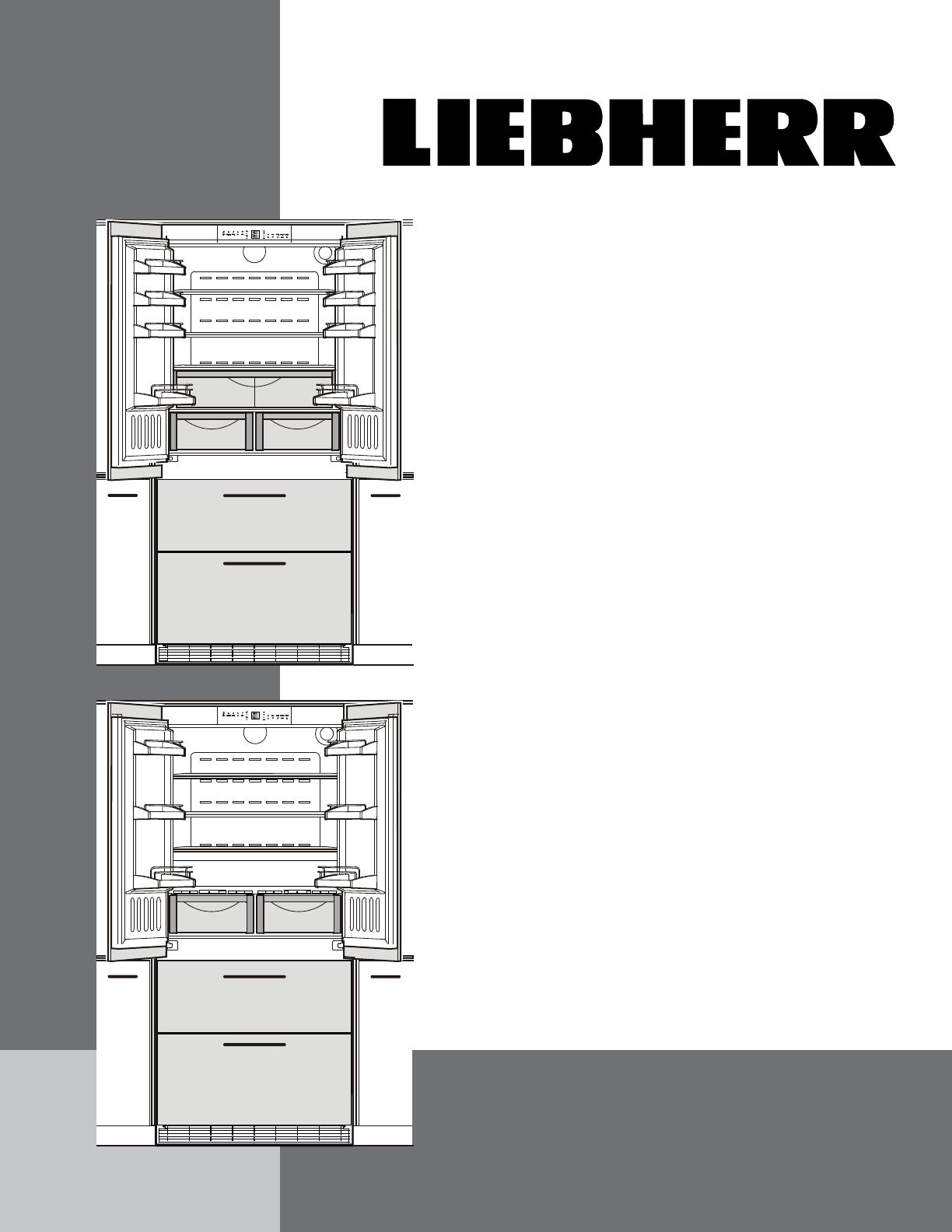 liebherr refrigerator hcb 2062 user guide manualsonline com rh tv manualsonline com Liebherr Column Appliances Liebert Appliances