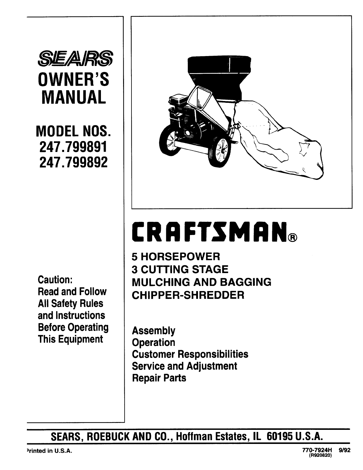 Craftsman Chipper 247799890 User Guide Manualsonlinecom Drive System Diagram Parts List For Model 604 Mtdparts Ridingmower Owners Manual