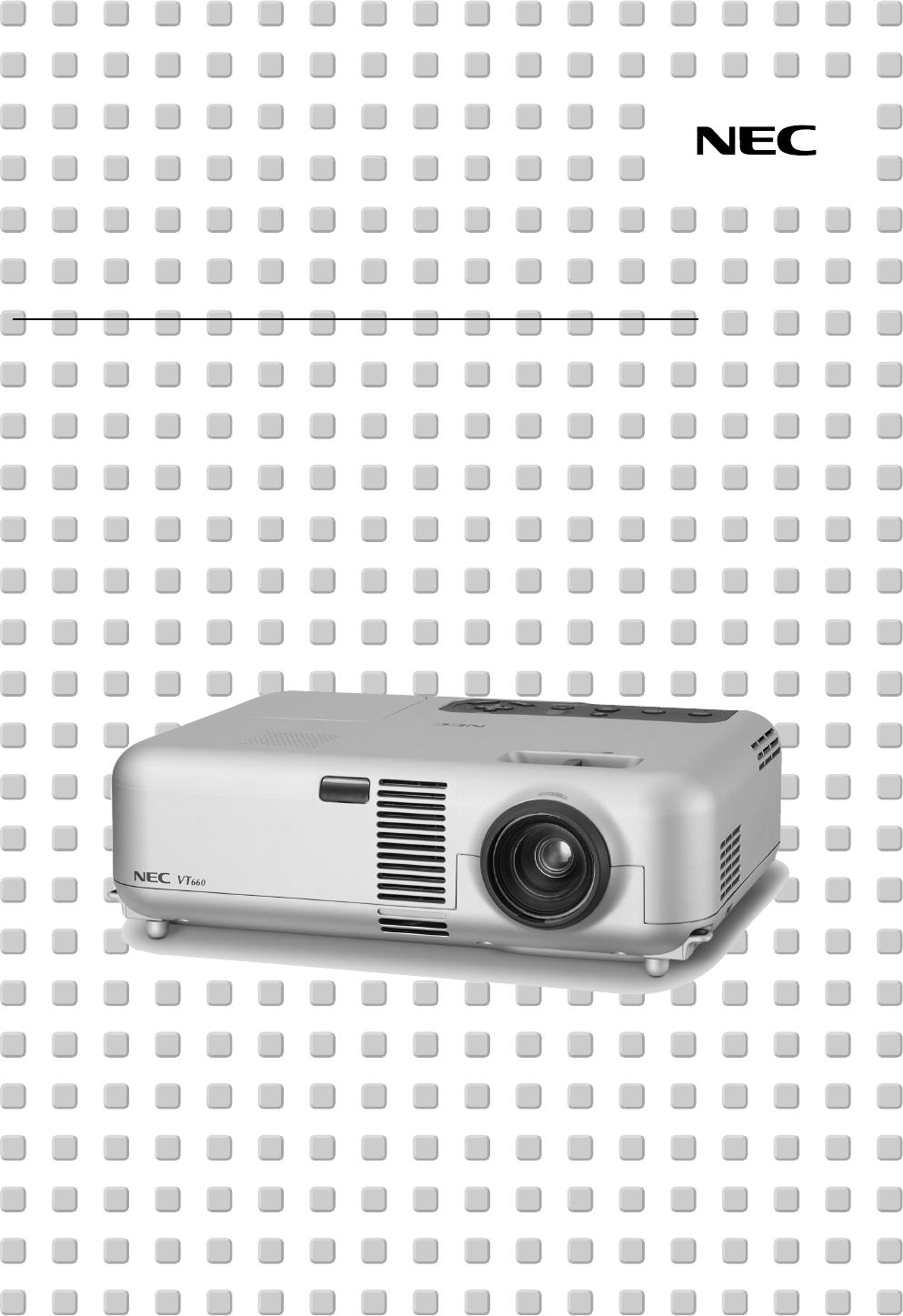 nec projector vt460 user guide manualsonline com rh office manualsonline com NEC Dterm 80 Manual Manual III NEC Series Dterm 16305003B