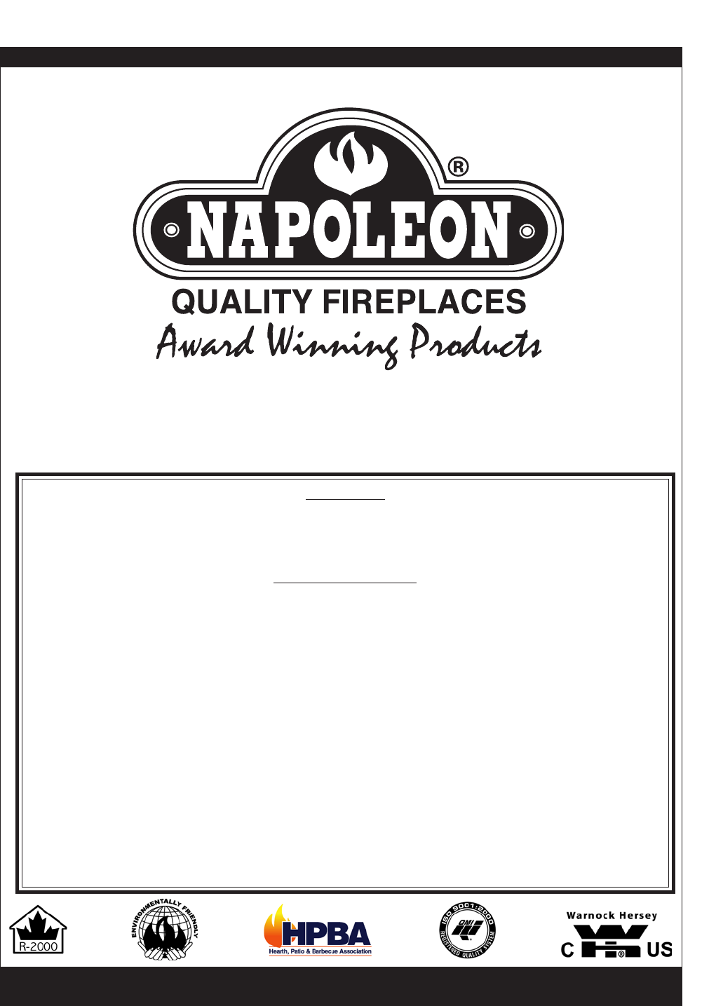napoleon fireplaces stove 1401 user guide manualsonline com