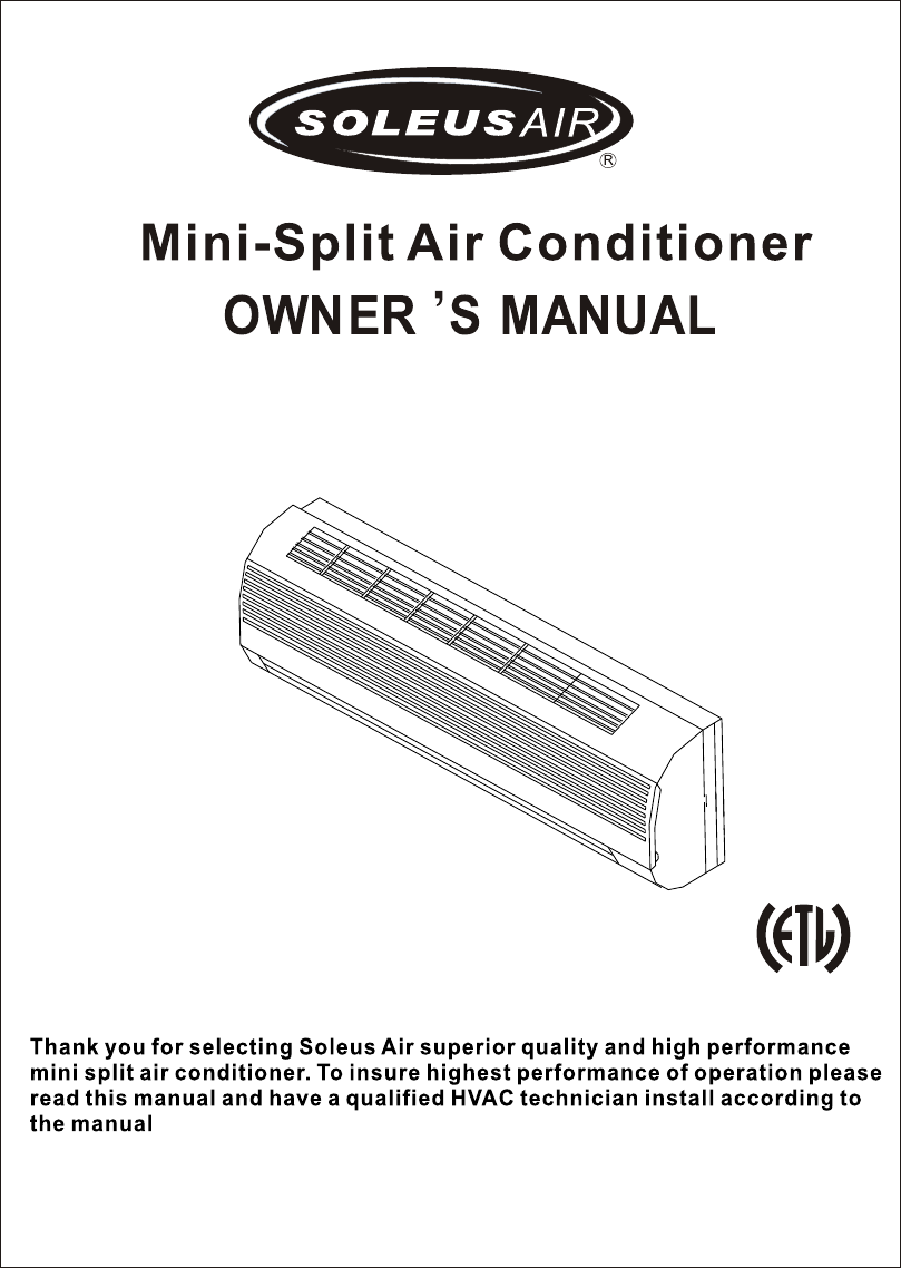 soleus air air conditioner kfthp 12 id user guide manualsonline com rh homeappliance manualsonline com lg split air conditioner manual beko split air conditioner manual