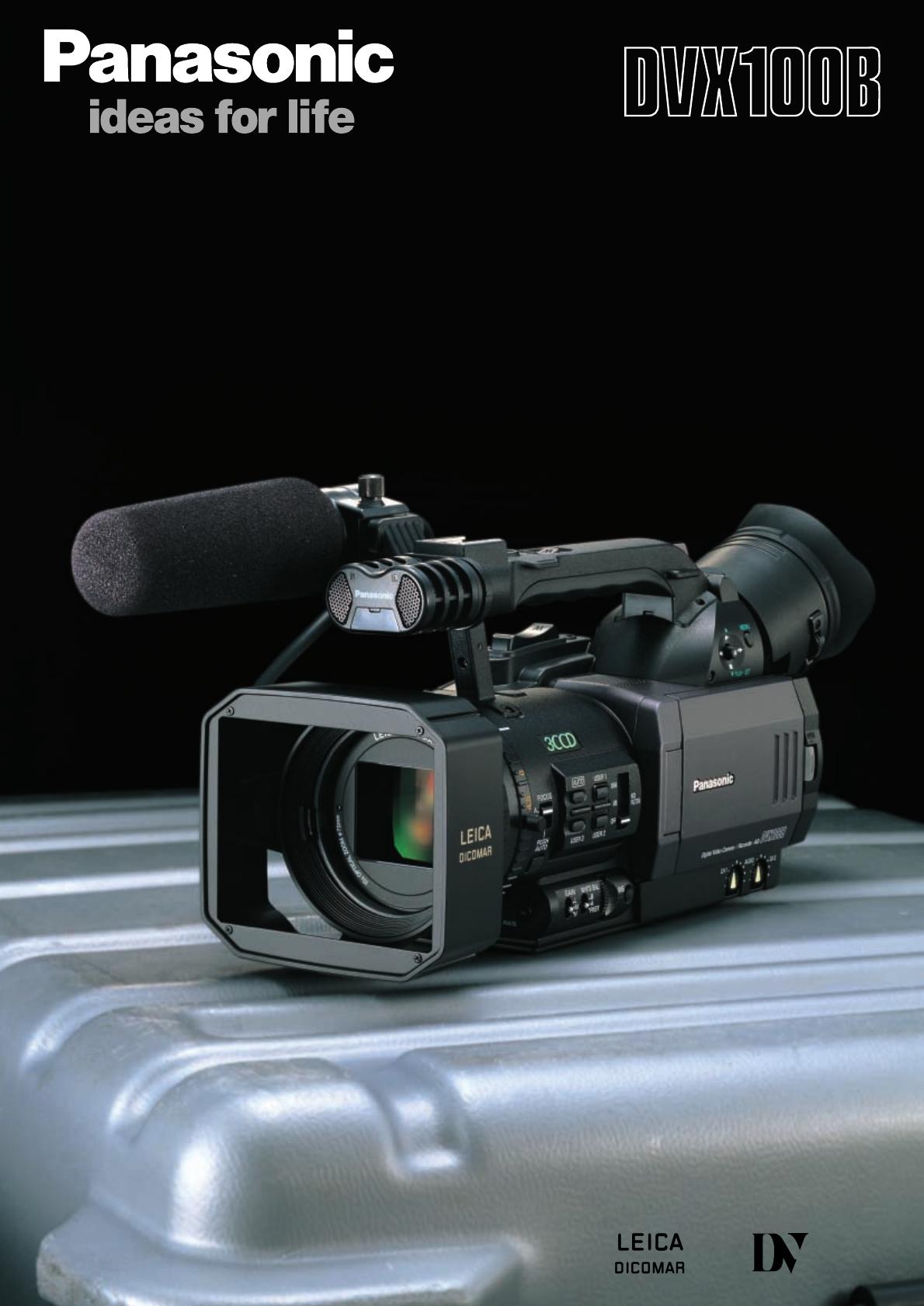 panasonic camcorder ag dvx100b user guide manualsonline com rh manualsonline com Panasonic Mini DV Digital Camcorder Panasonic Camcorder Silver