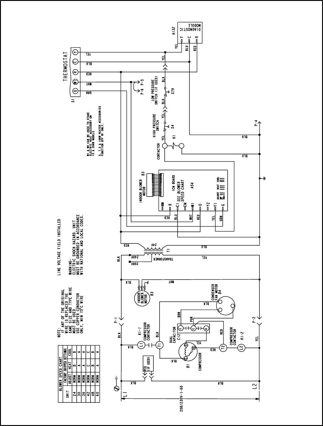 Page 8 of Lennox International Inc Air Conditioner 15CHAX Series – Lennox Electric Heater Wiring Diagram