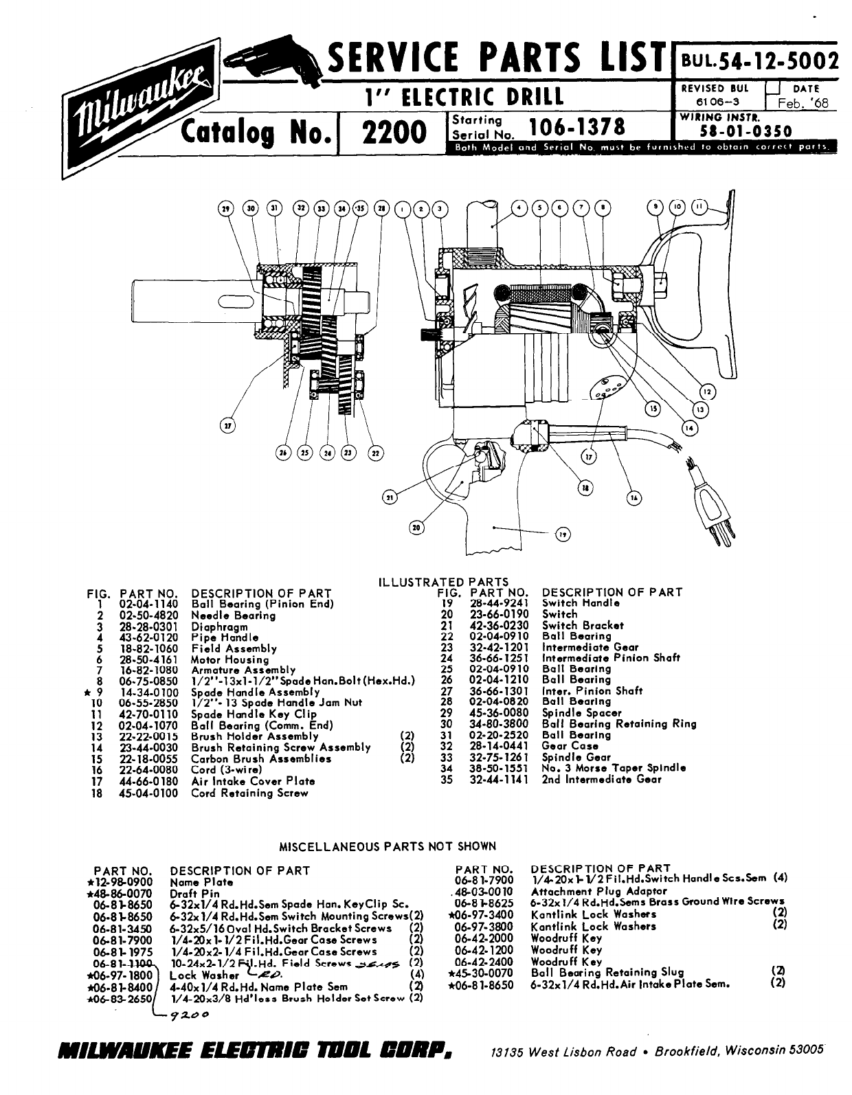 milwaukee drill 02 04 1070 user guide manualsonline com rh powertool manualsonline com Milwaukee Magnetic Drill Parts Schematics Milwaukee Magnetic Drill Parts Schematics