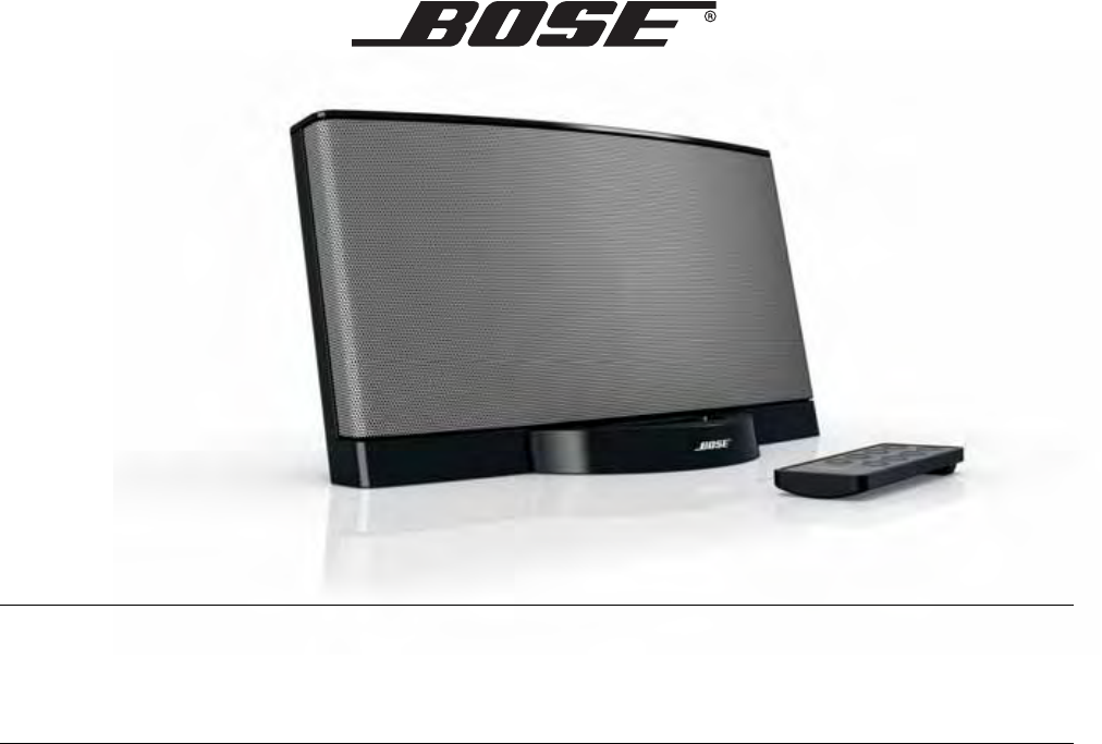 bose stereo system sounddock series ii black user guide rh audio manualsonline com bose sounddock iii user manual Bose SoundDock Portable
