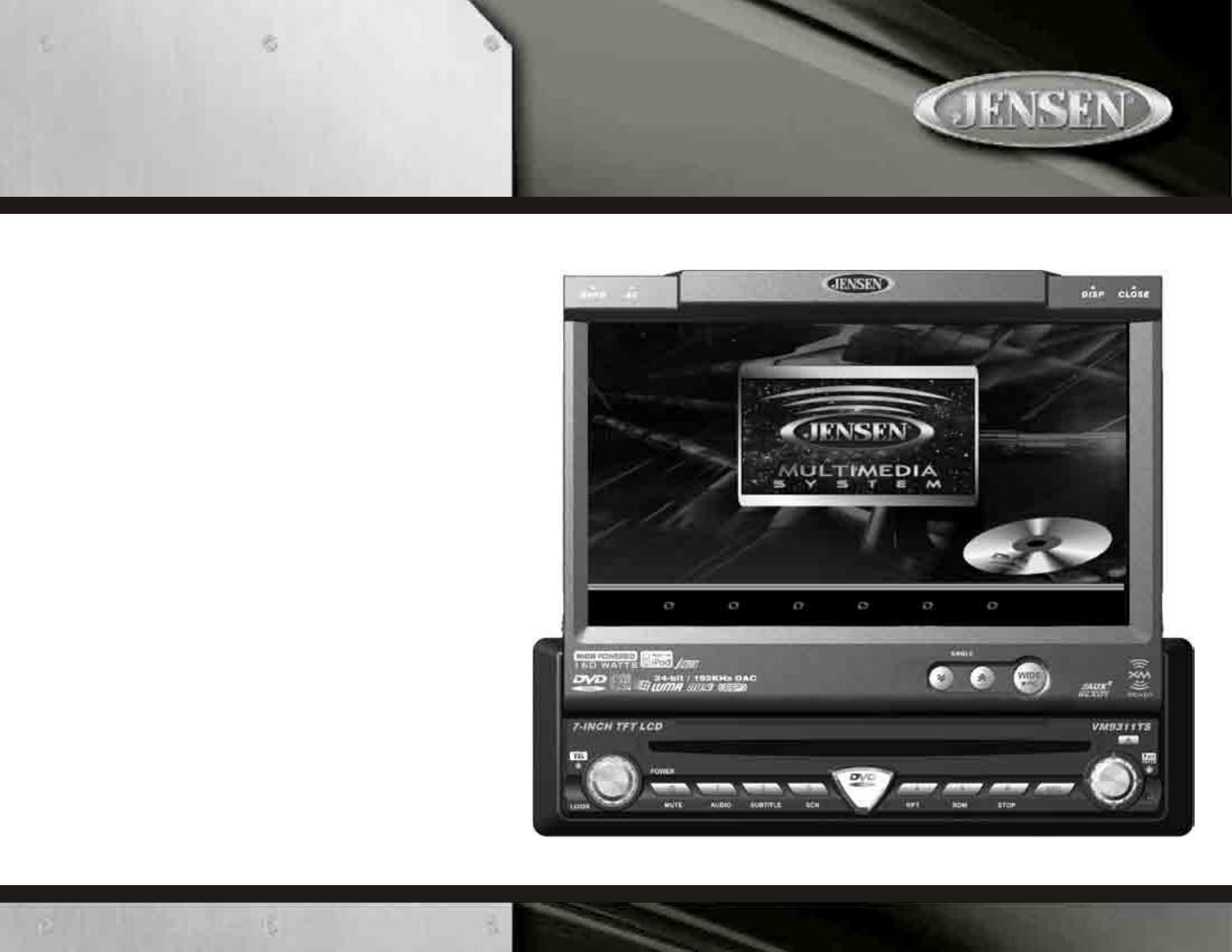 Jensen Car Stereo System Vm9311ts User Guide