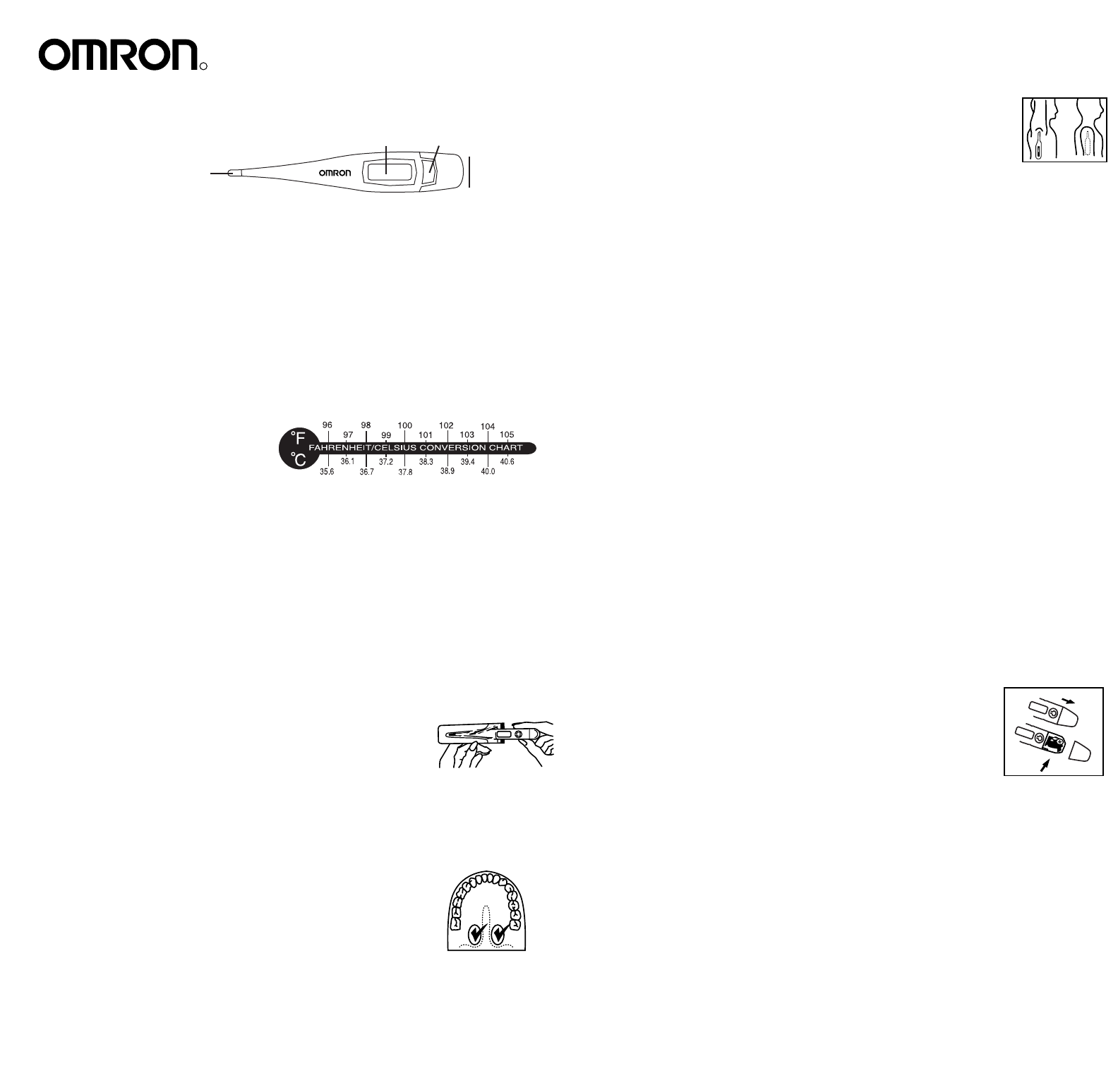 Omron healthcare thermometer mc 106 user guide manualsonline omron healthcare mc 106 thermometer user manual geenschuldenfo Image collections