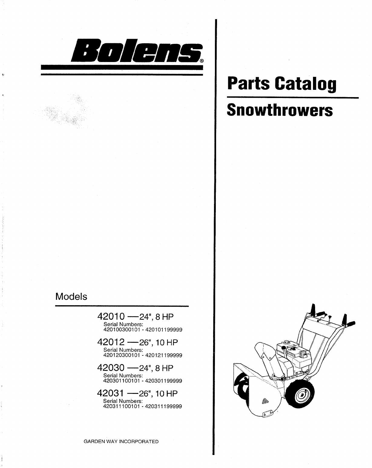 Bolens snow blower 42010 user guide manualsonline of 12 publicscrutiny Choice Image