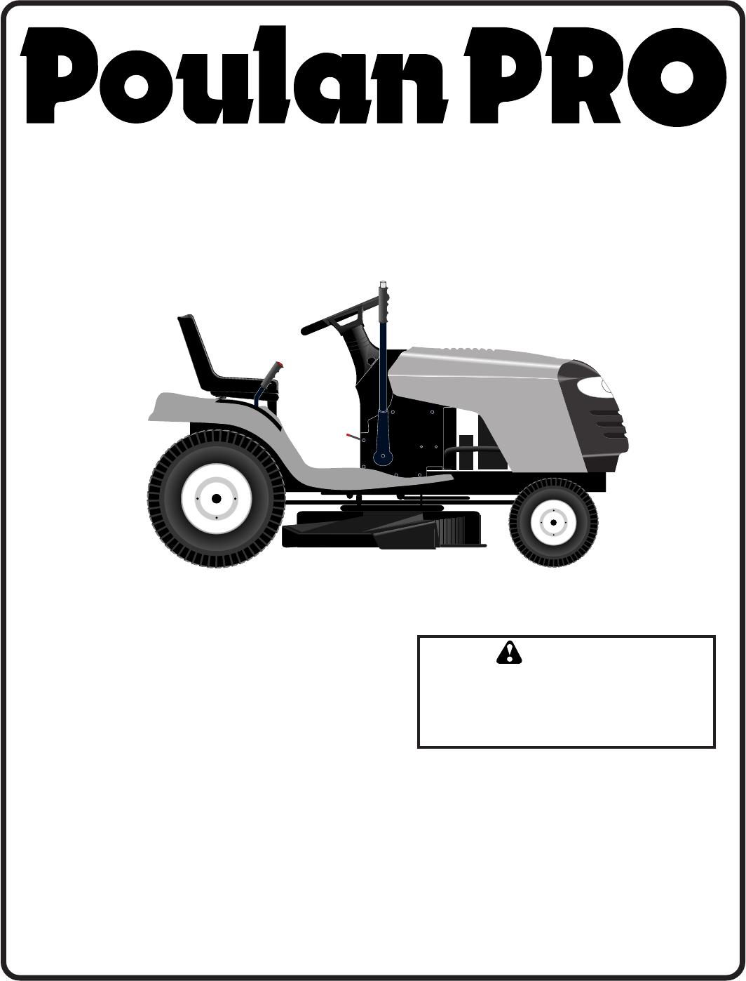 ... Poulan Pro Riding Mower Manual Wiring Diagram Database