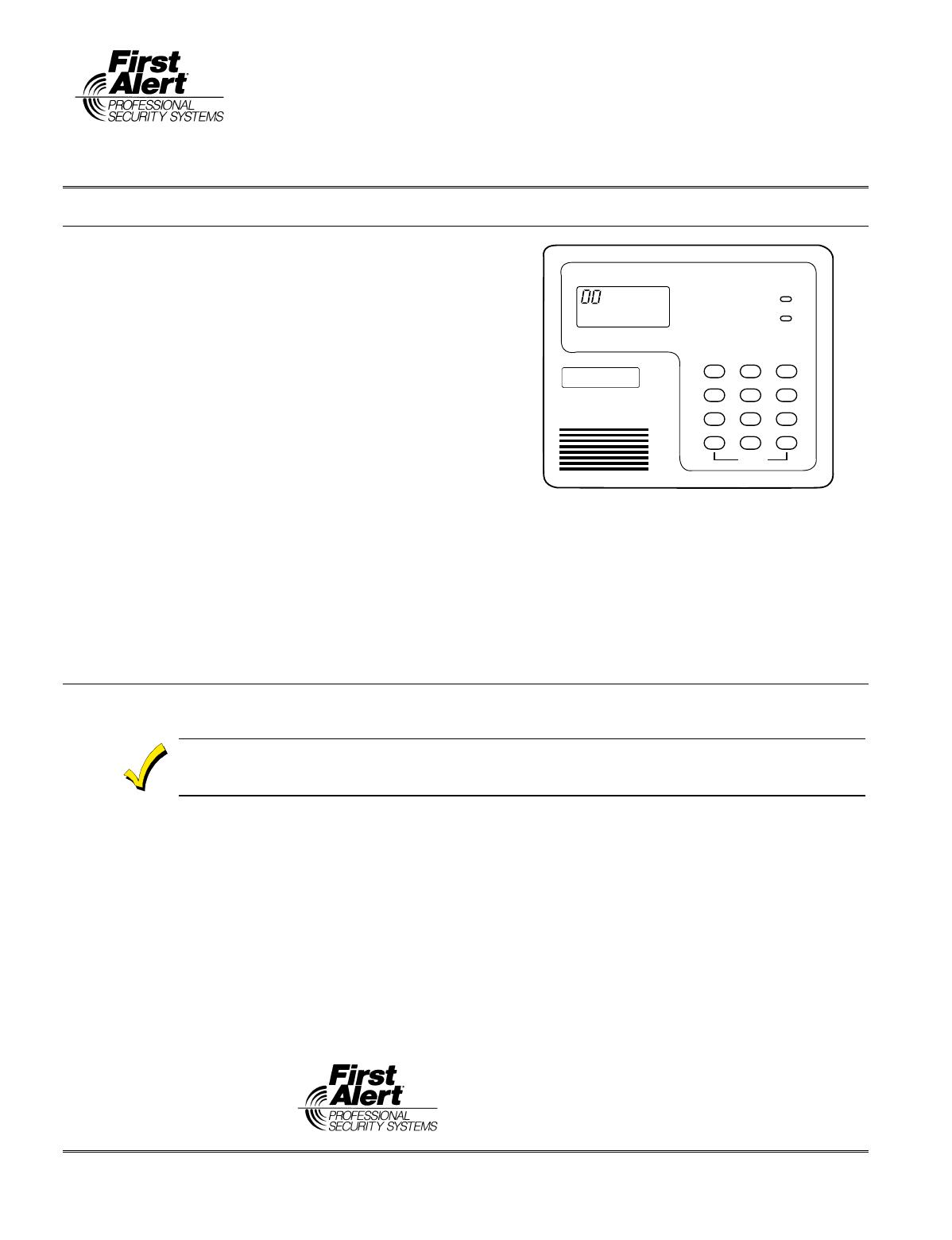 First Alert FA210RF Garage Door Opener User Manual