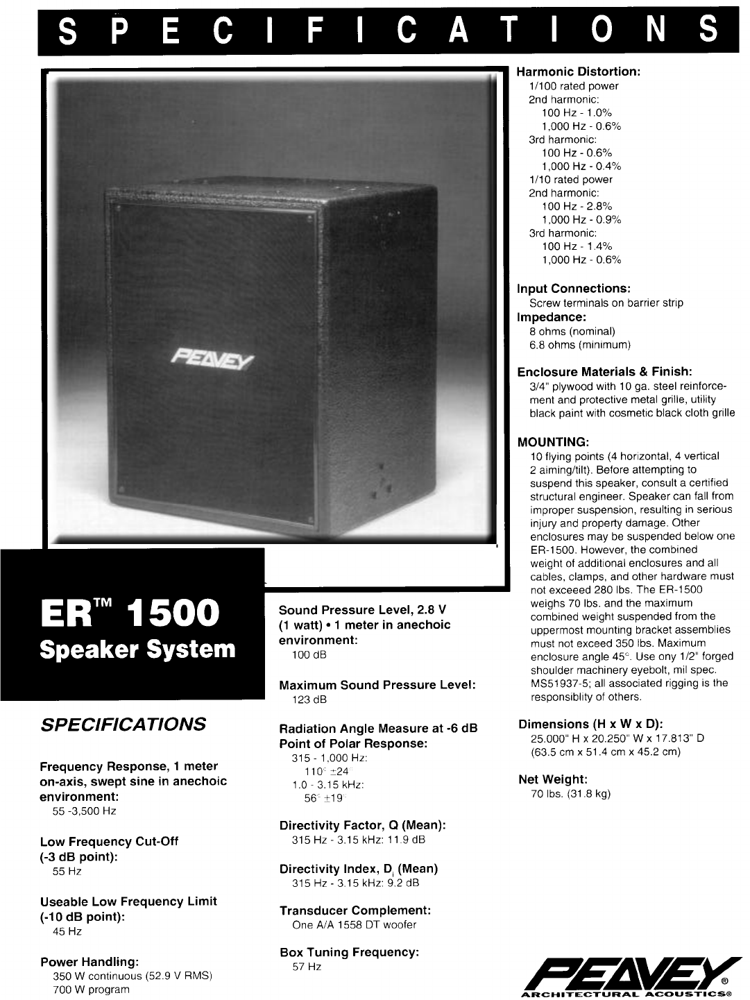 peavey speaker system er 1500 user guide manualsonline com rh audio manualsonline com Quick Reference Guide User Guide Icon