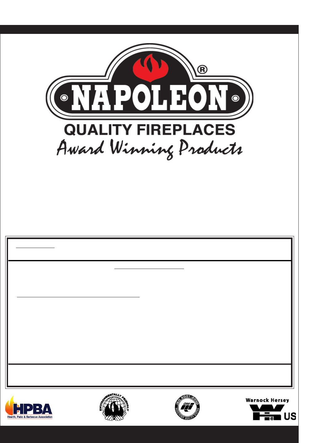 napoleon fireplaces indoor fireplace gvf40n user guide manualsonline