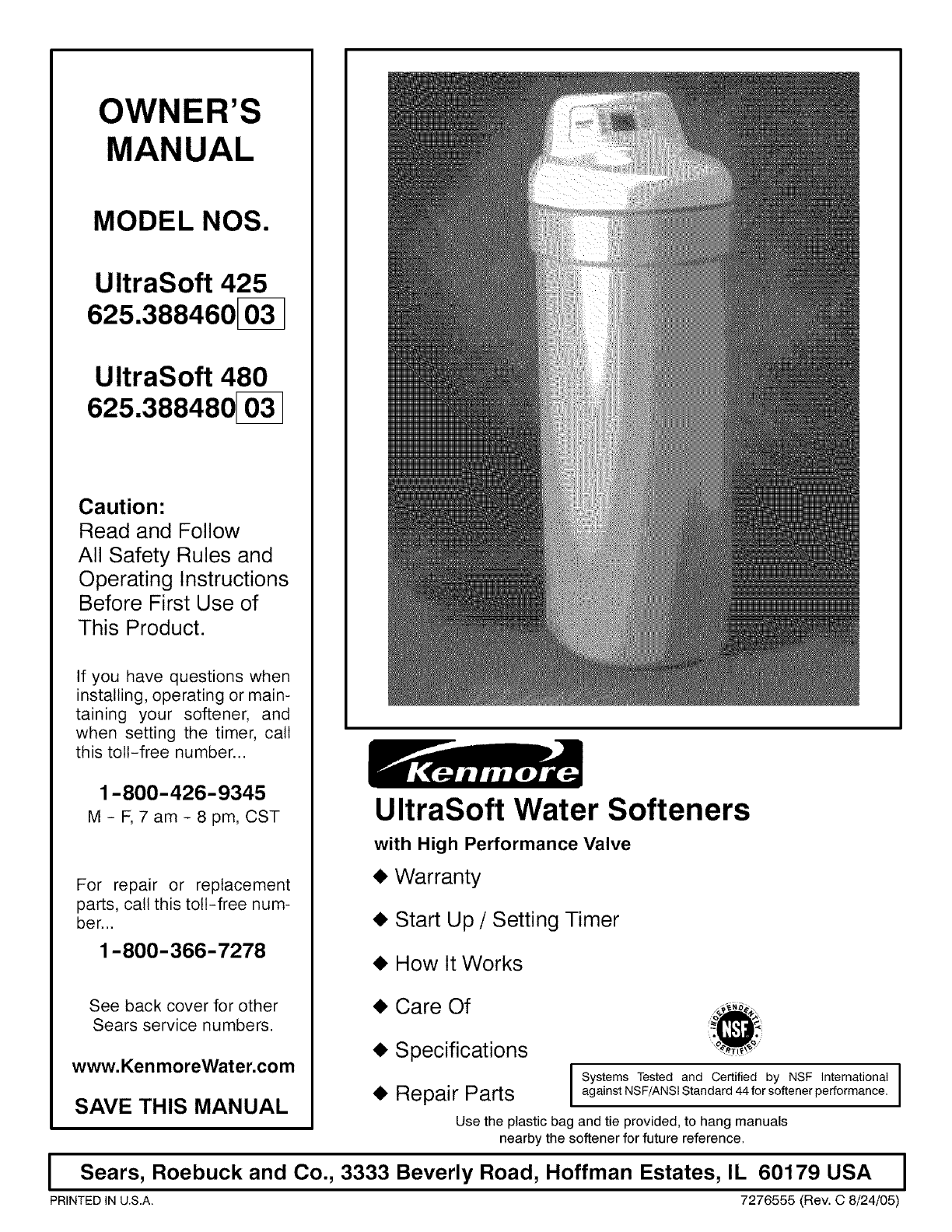 Kenmore water system 425 user guide manualsonline ccuart Image collections