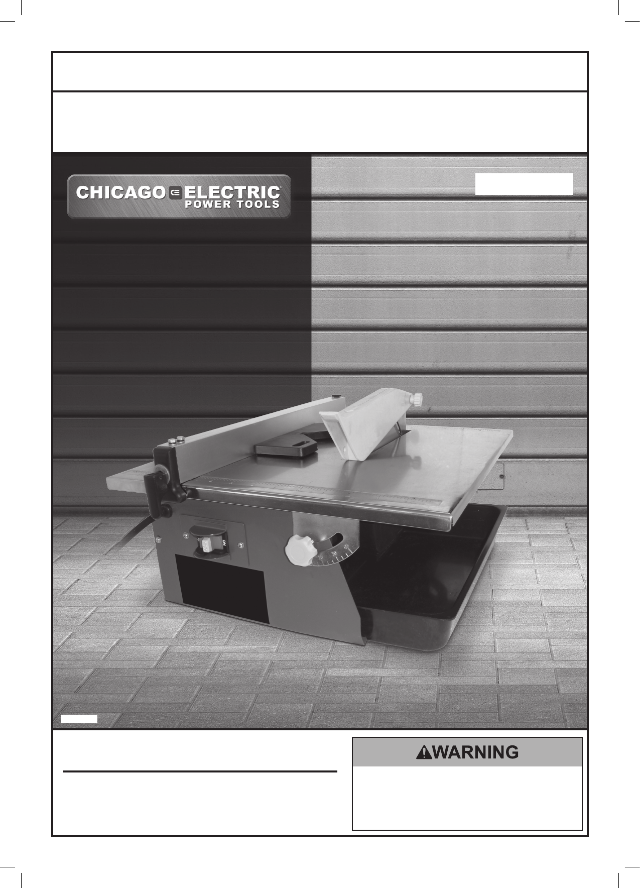 chicago electric saw 69231 user guide