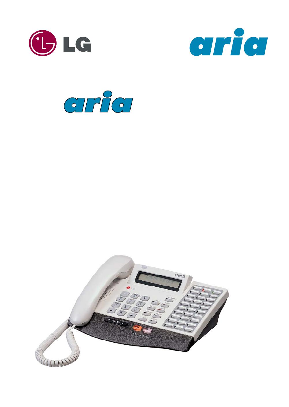 aria 186/ 100/ 34E - DIGITAL KEY TELEPHONE SYSTEM USER GUIDE