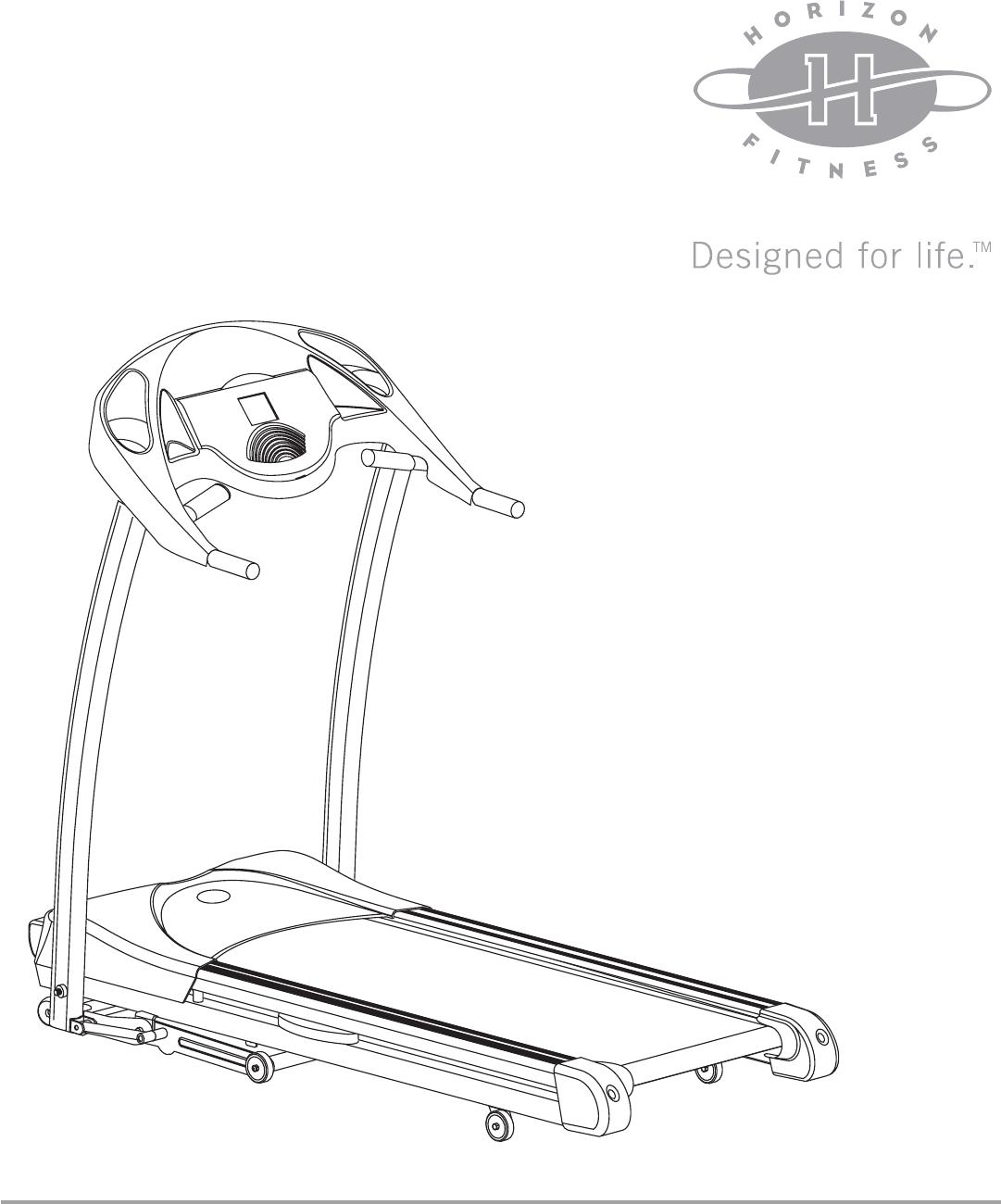 Horizon Fitness T51 Treadmill Manual