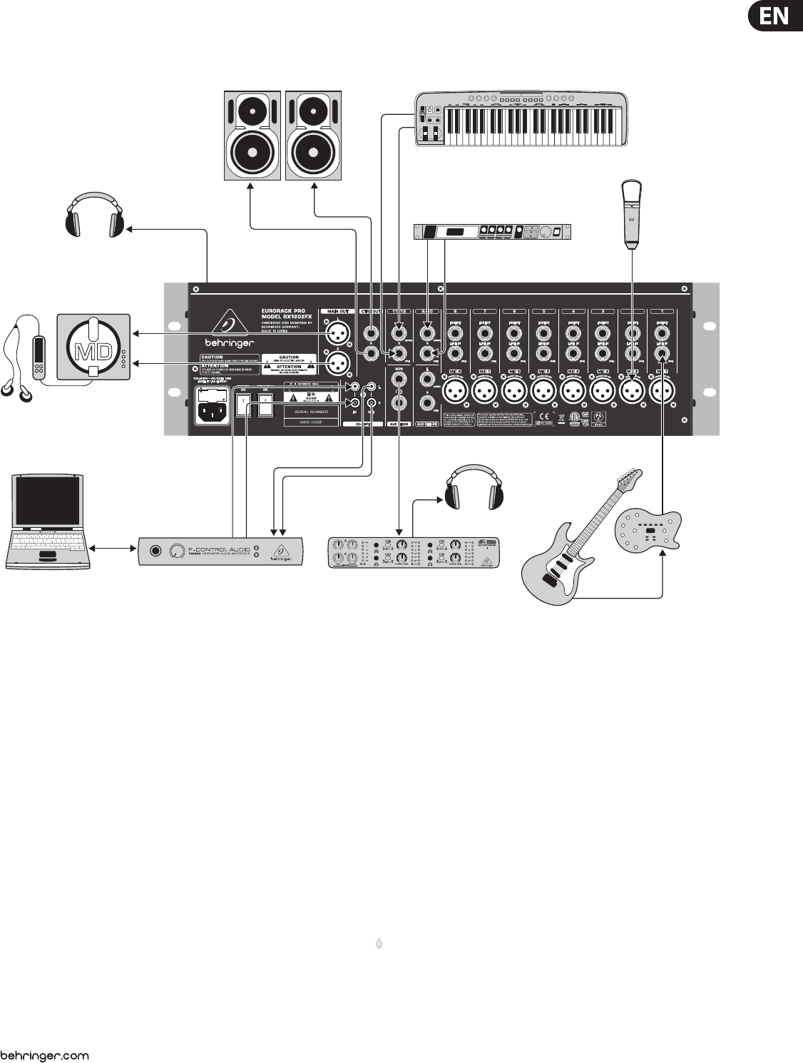page 11 of behringer music mixer rx1202fx user guide manualsonline com rh music manualsonline com Rack Mount Mic Mixer Mixer with Effects Rack Mount