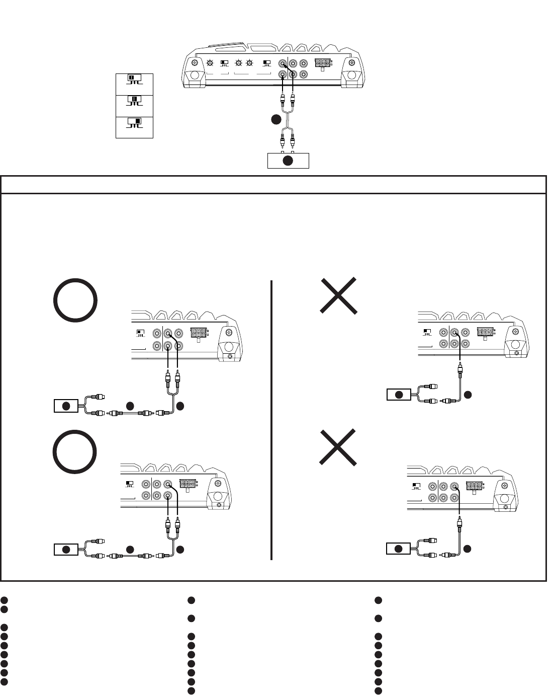 Alpine Amp Mrp T220 Wiring Diagram Electrical Mono Page 14 Of Stereo Amplifier User Guide Rh Audio Manualsonline Com Car