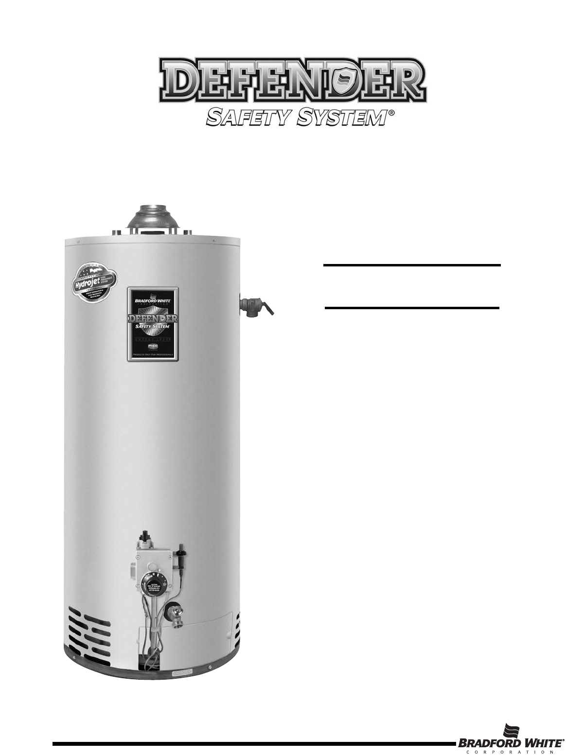 bradford white water heater instruction manual