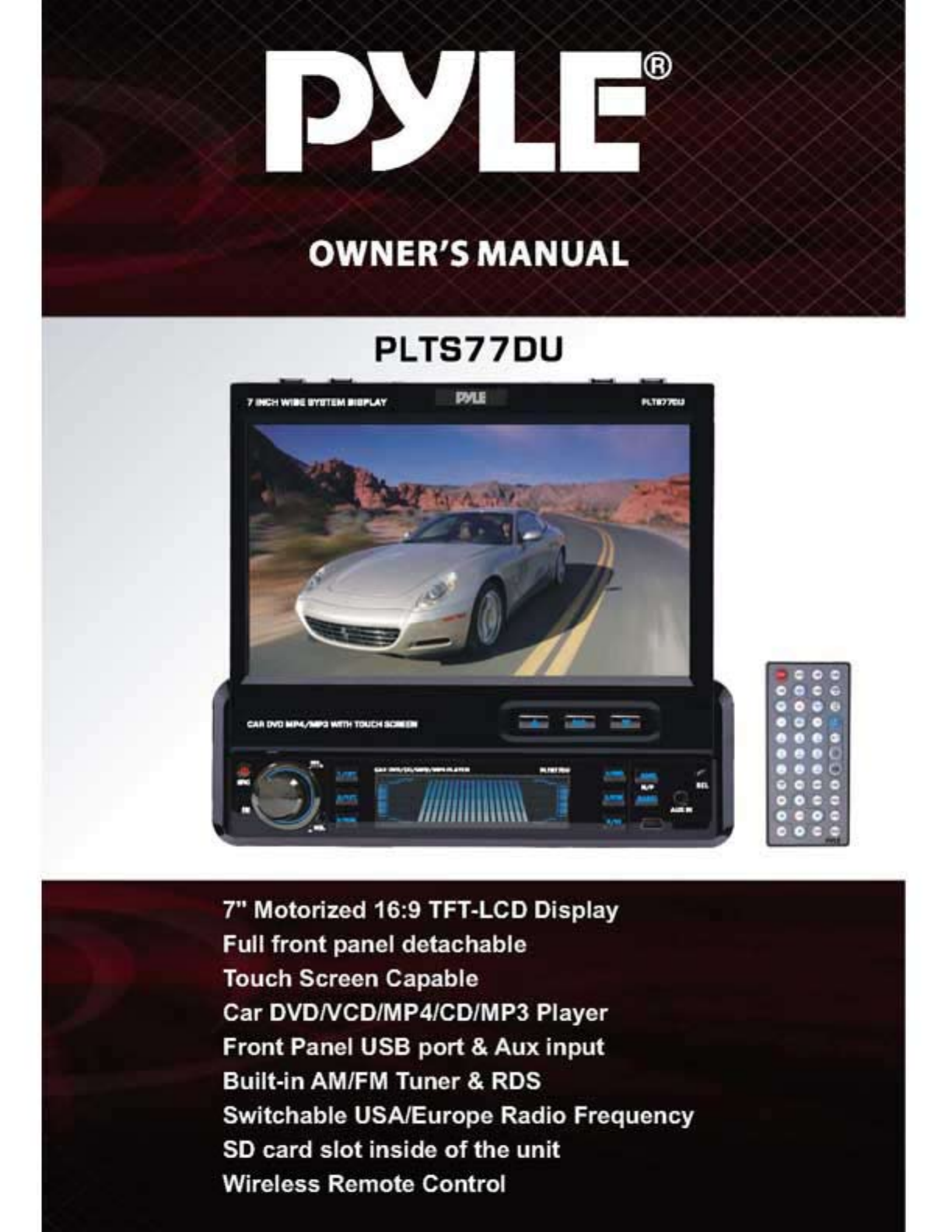 pyle audio car video system plts77du user guide manualsonline com rh caraudio manualsonline com Pyle PT588AB Home Pyle P3002AI