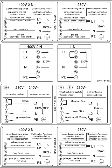 Page 26 of zanussi range zkt 650 d user guide manualsonline 26 electrical connection cheapraybanclubmaster Choice Image