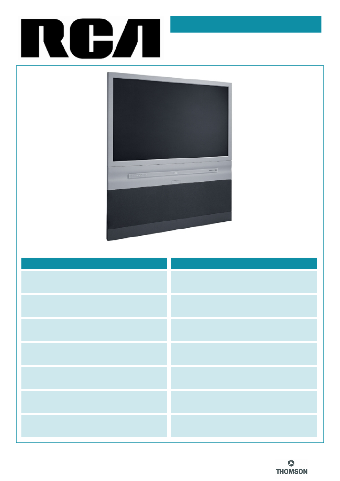 rca flat panel television d52w19 user guide manualsonline com rh tv manualsonline com rca crt tv service manual rca crt tv service manual