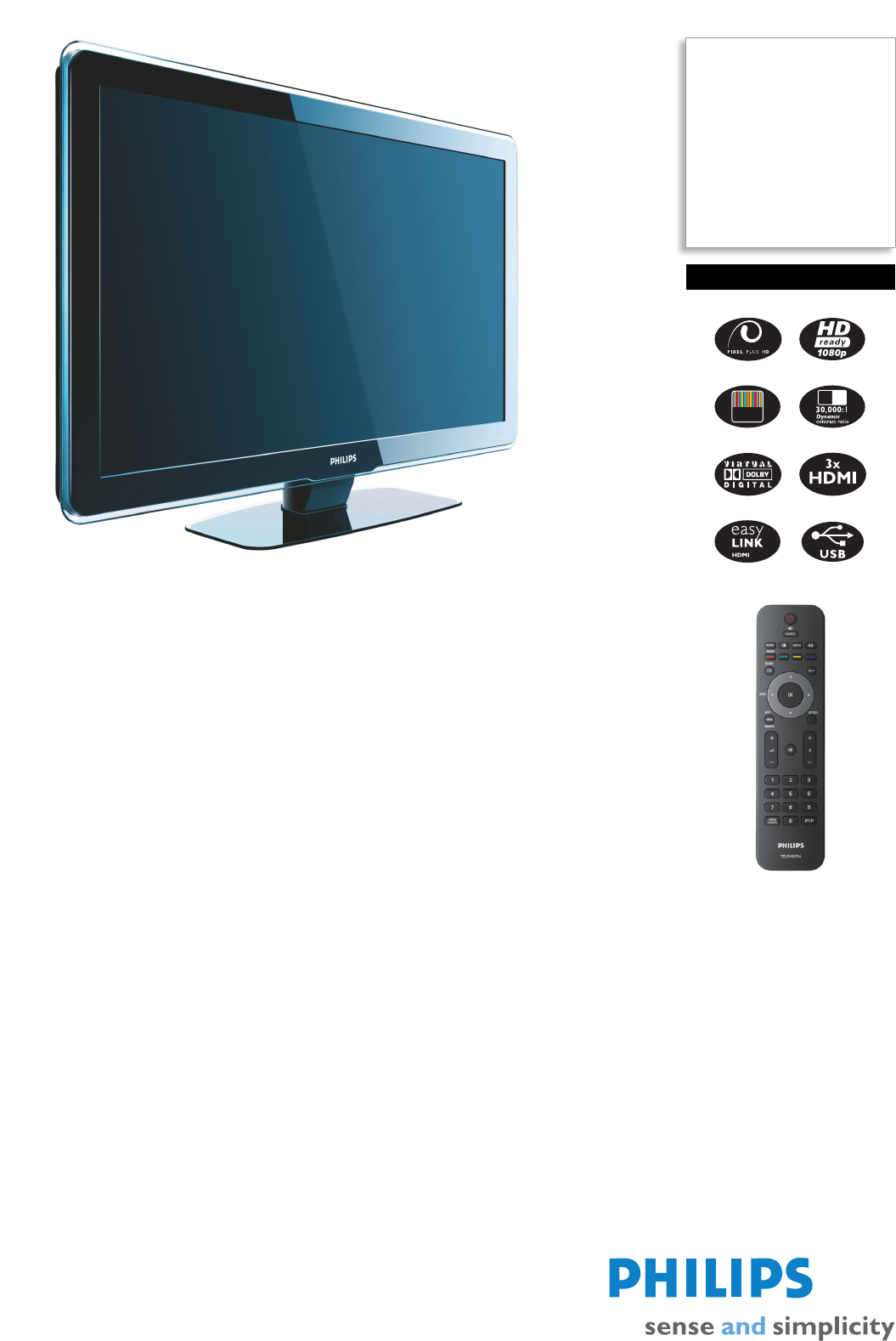 Philips Flat Panel Television 47PFL5603H User Guide | ManualsOnline com