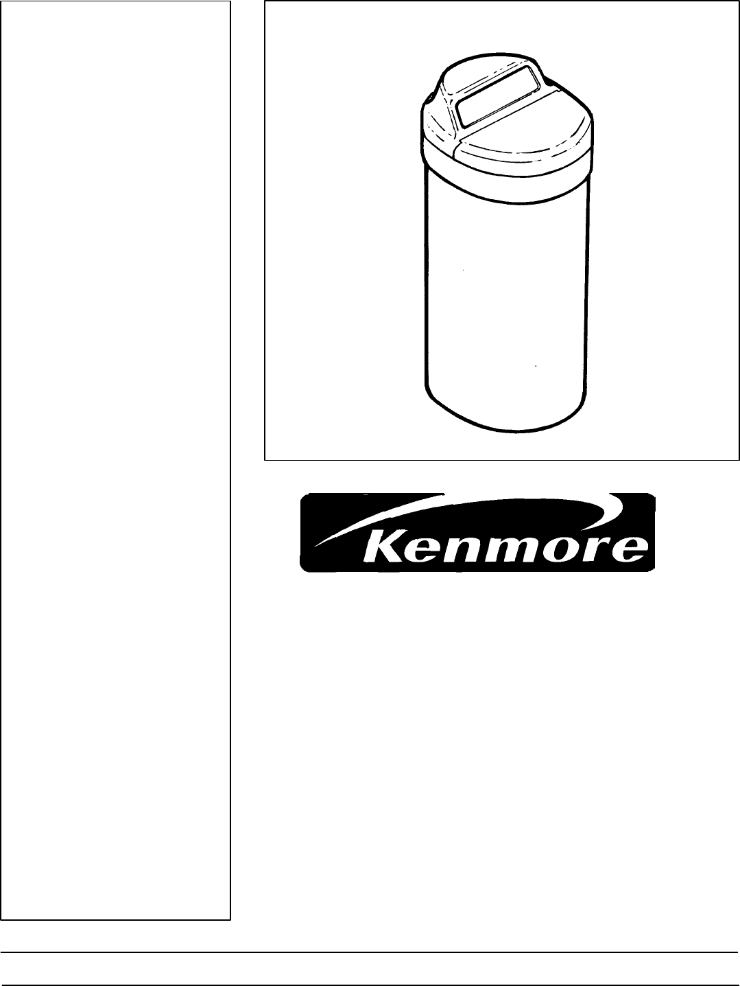 Kenmore Water System 625 34859 User Guide Manualsonline Com