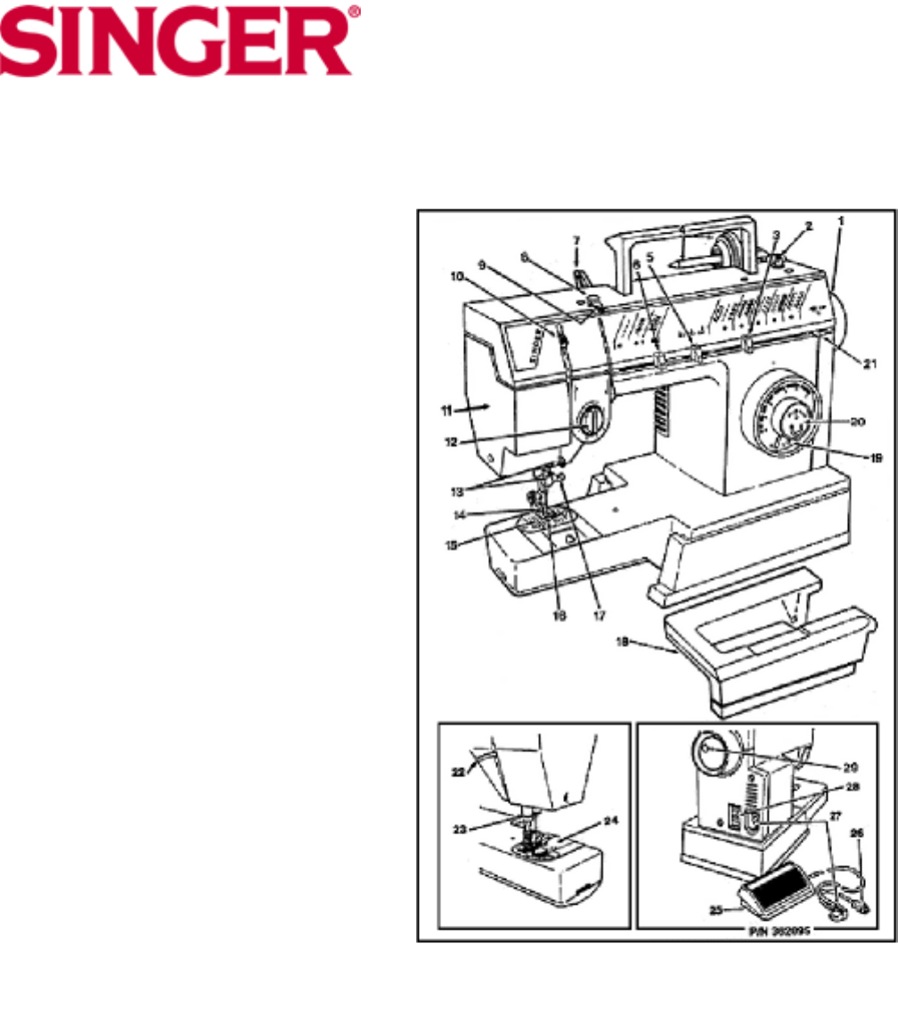 page 5 of singer sewing machine 10 user guide