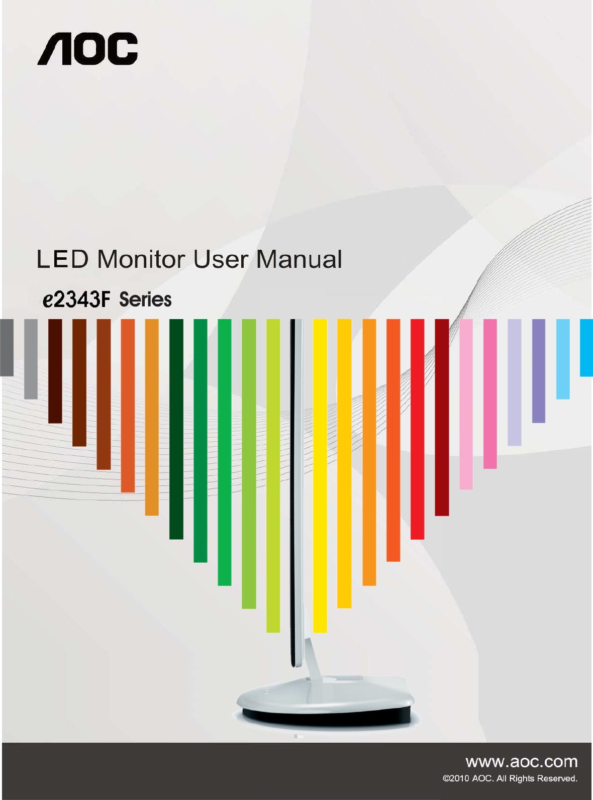 aoc computer monitor e2343f user guide manualsonline com rh office manualsonline com  aoc e2343f manual