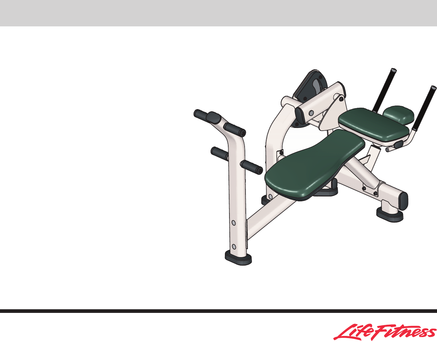 Life Fitness Home Gym Ab Crunch Bench User Guide