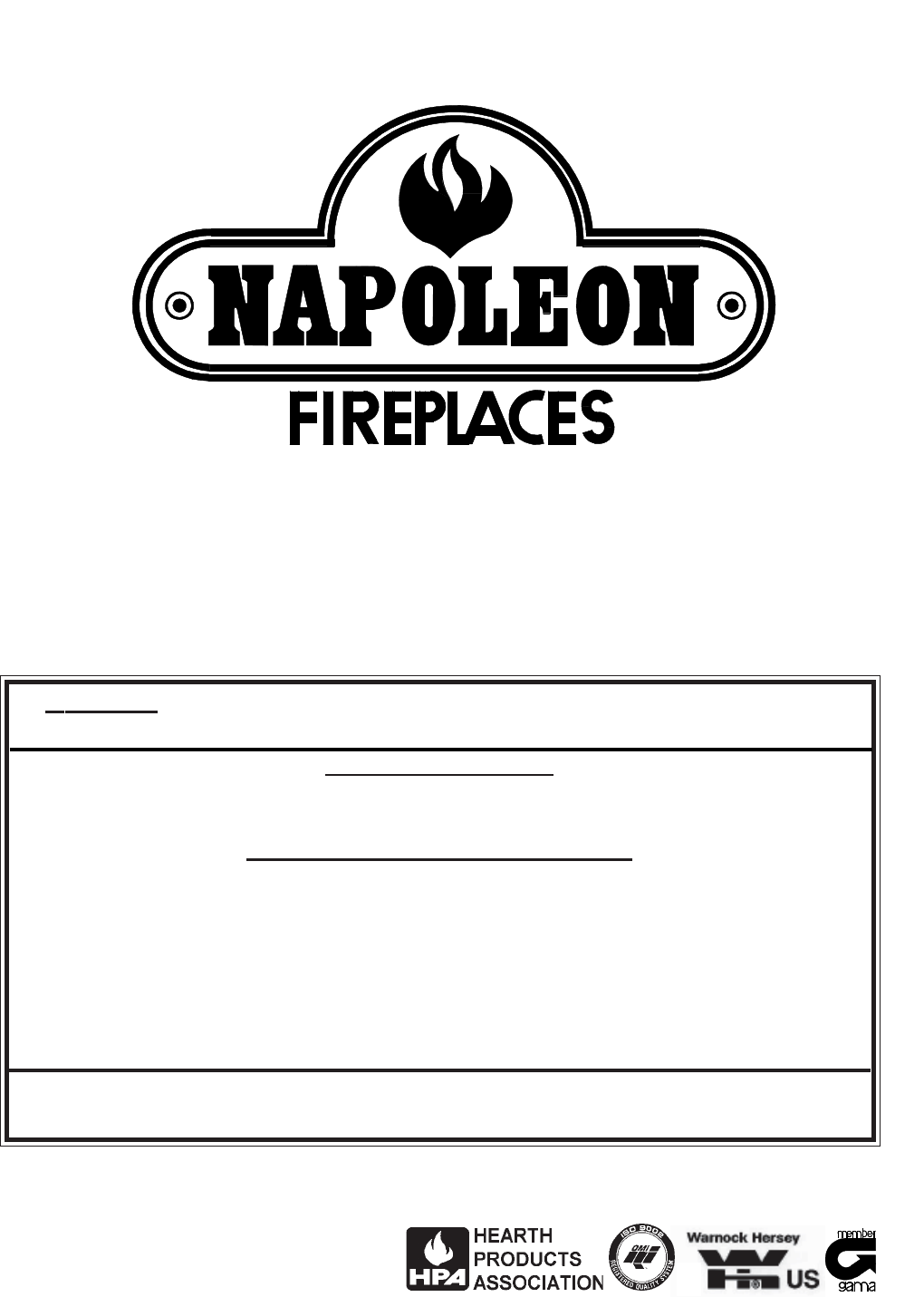 napoleon fireplaces indoor fireplace gvfs60 n user guide manualsonline