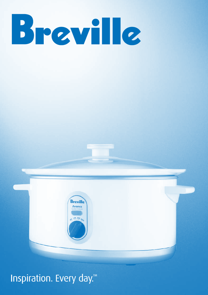 Breville Slow Cooker BSC300W User Guide ManualsOnline.com