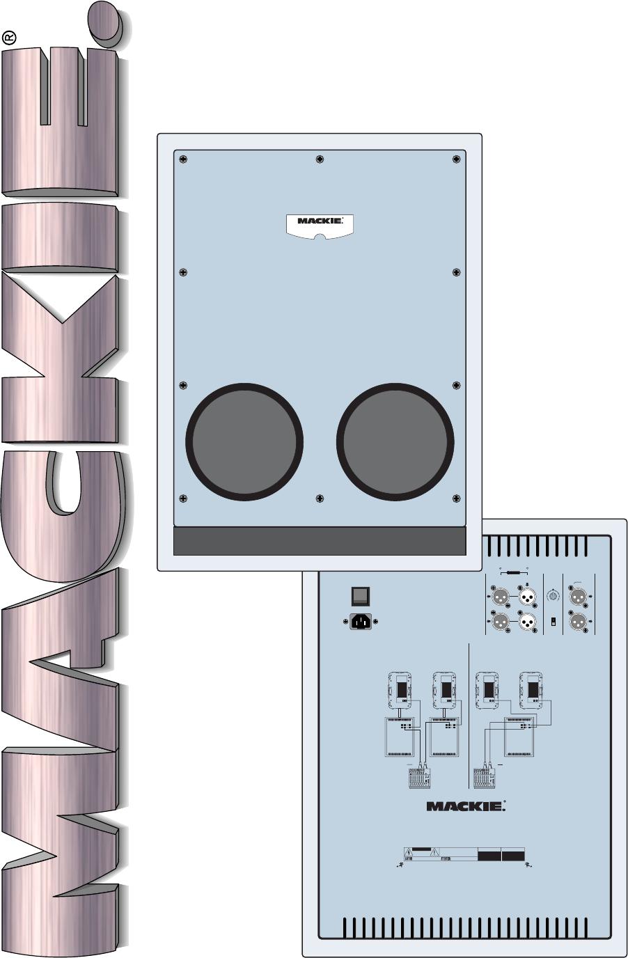 mackie speaker srs1500 user guide manualsonline com rh audio manualsonline com Mackie Powered Subs Mackie SRS1500 Active Subwoofer