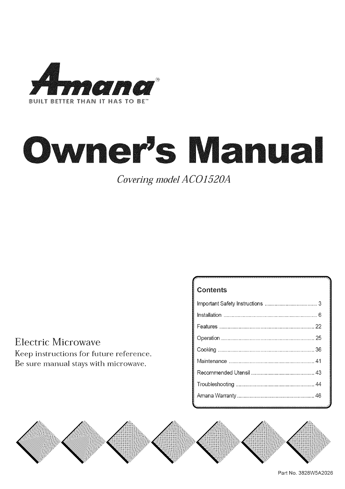 amana microwave oven a co15zoa user guide