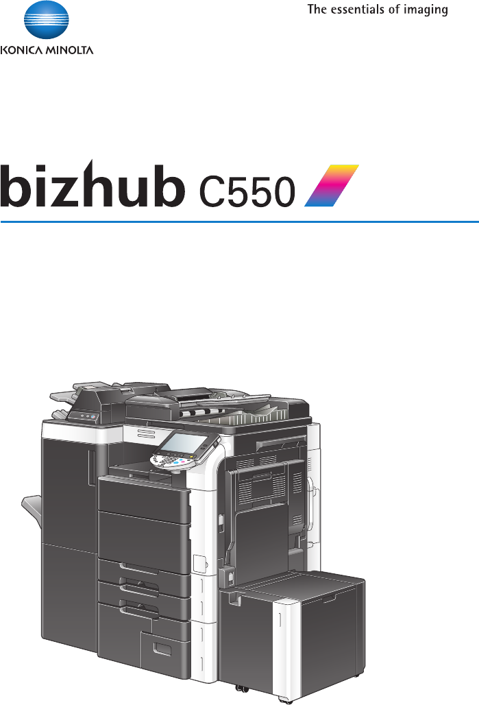 Konica Minolta Bizhub C550 User Manual