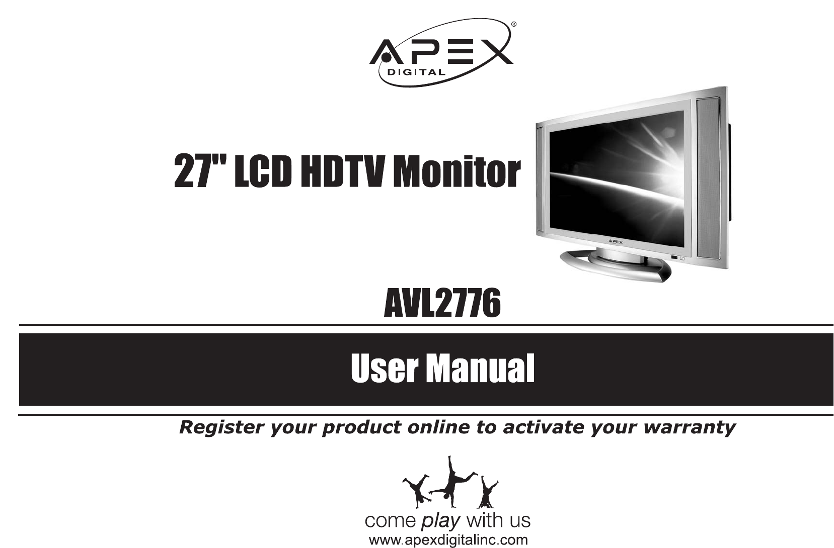 apex digital flat panel television avl2776 user guide rh tv manualsonline com Apex Digital Remote Apex Digital DVD Player