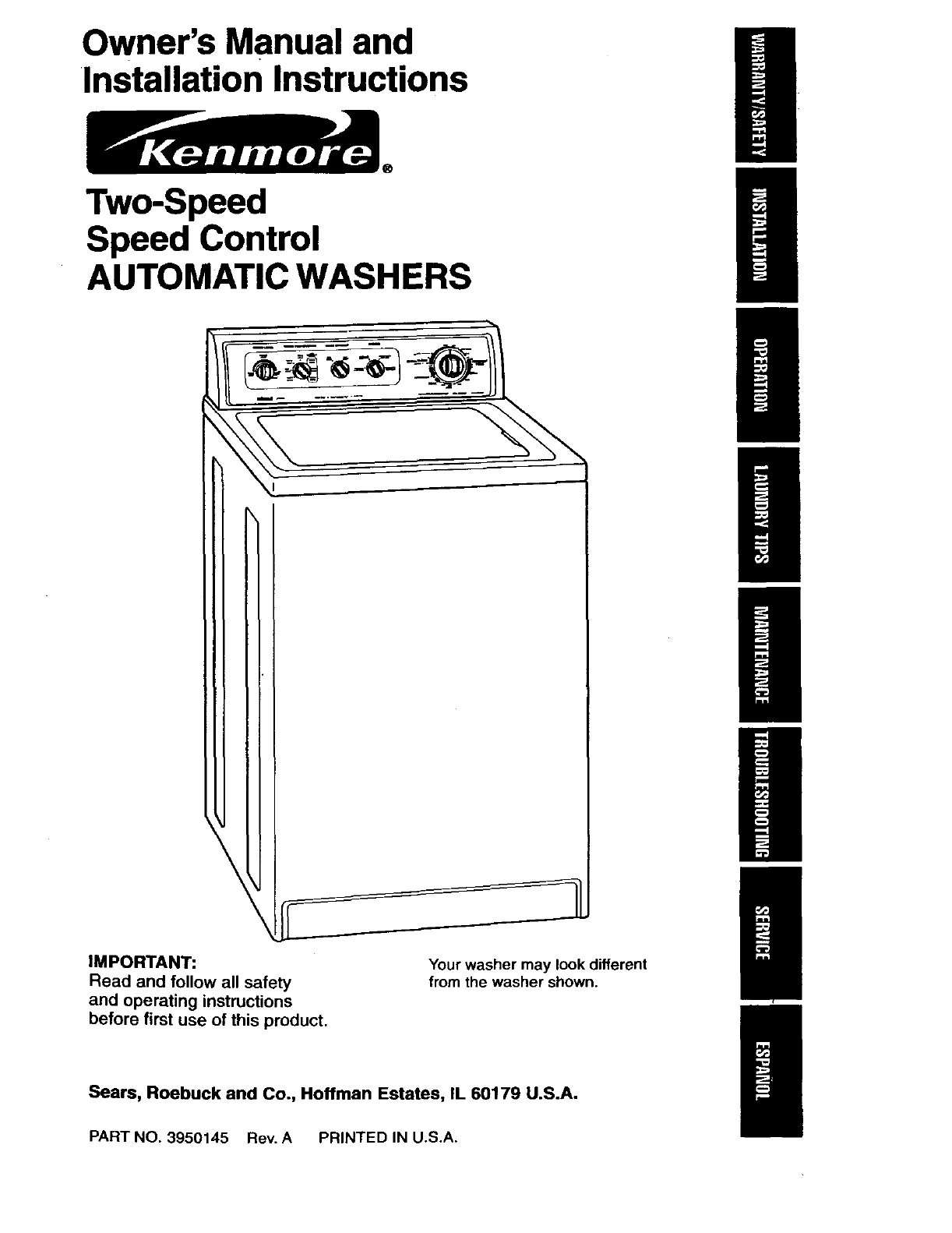Outstanding Kenmore Washing Machine Parts Diagram Pictures - Best ...