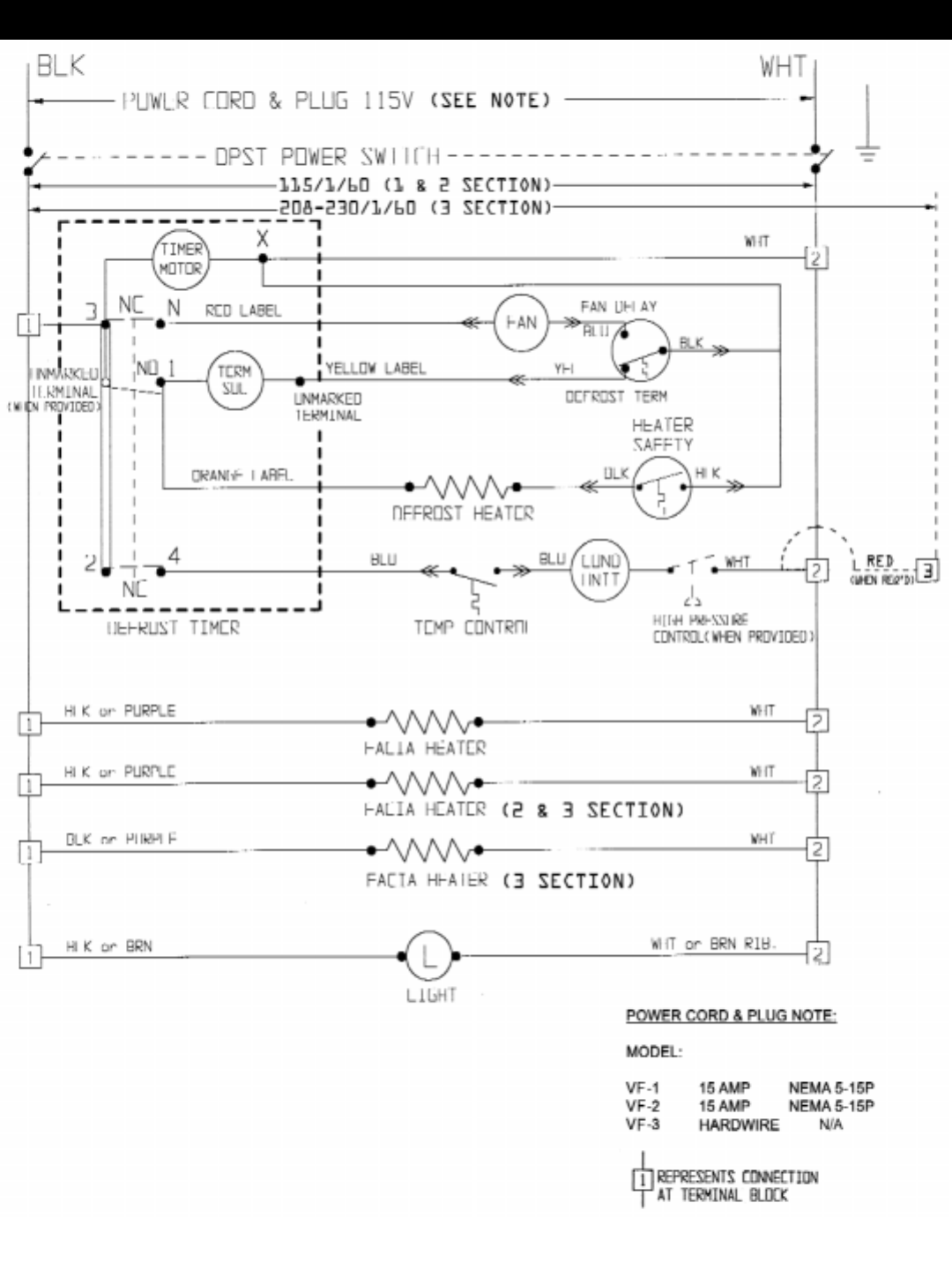 page 16 of victory refrigeration refrigerator vr 1 user guide 1 2 3 section zer wiring diagram