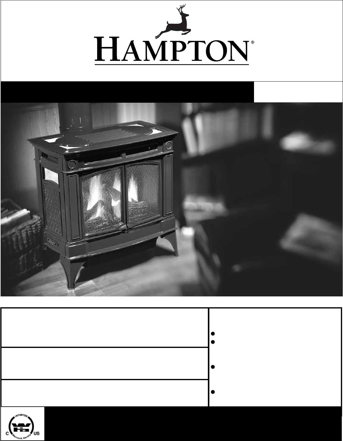 Hampton Direct Indoor Fireplace H35 Ng1 User Guide