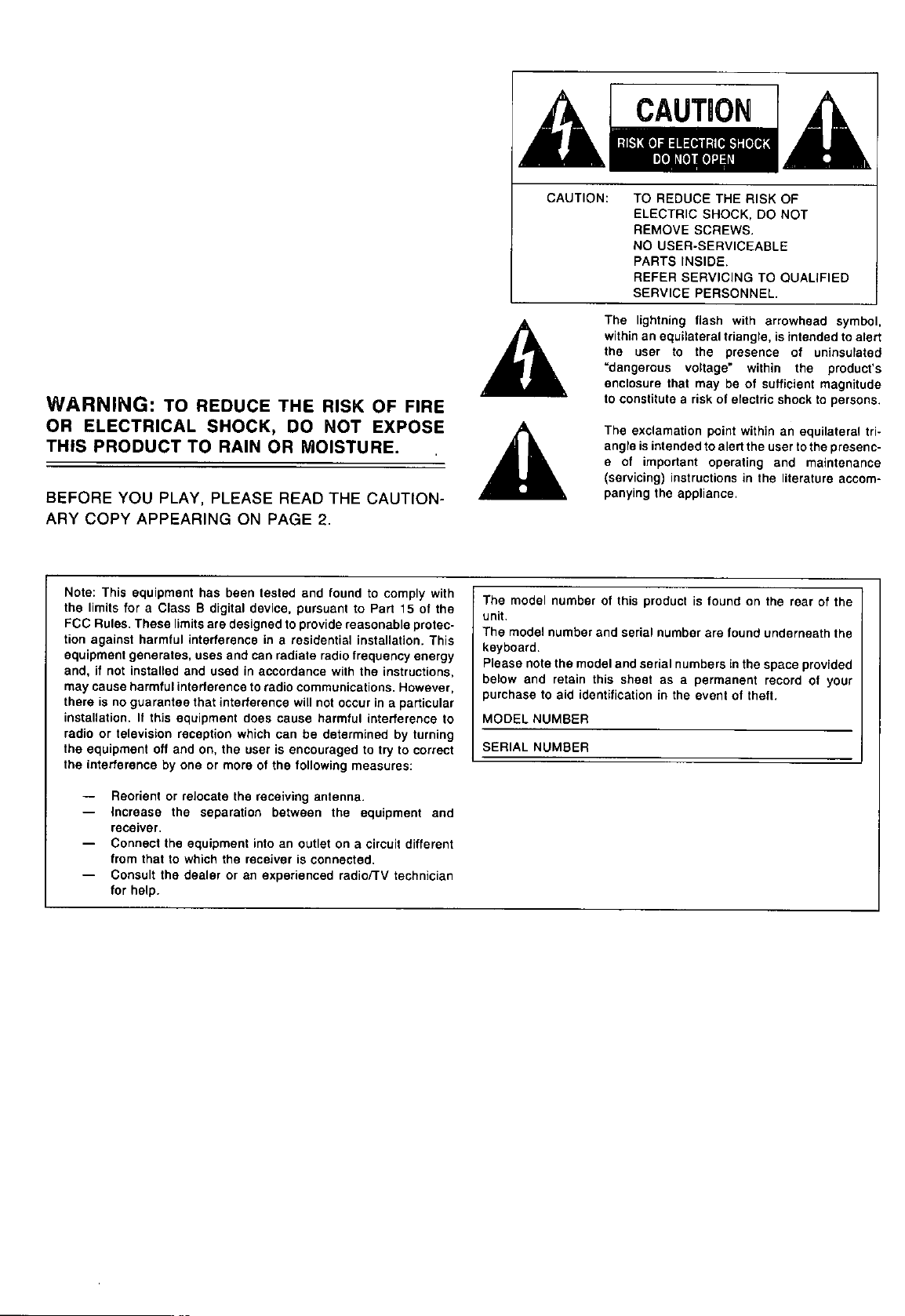 Page 2 Of Technics Electronic Keyboard Sx P30 User Guide Circuit 12