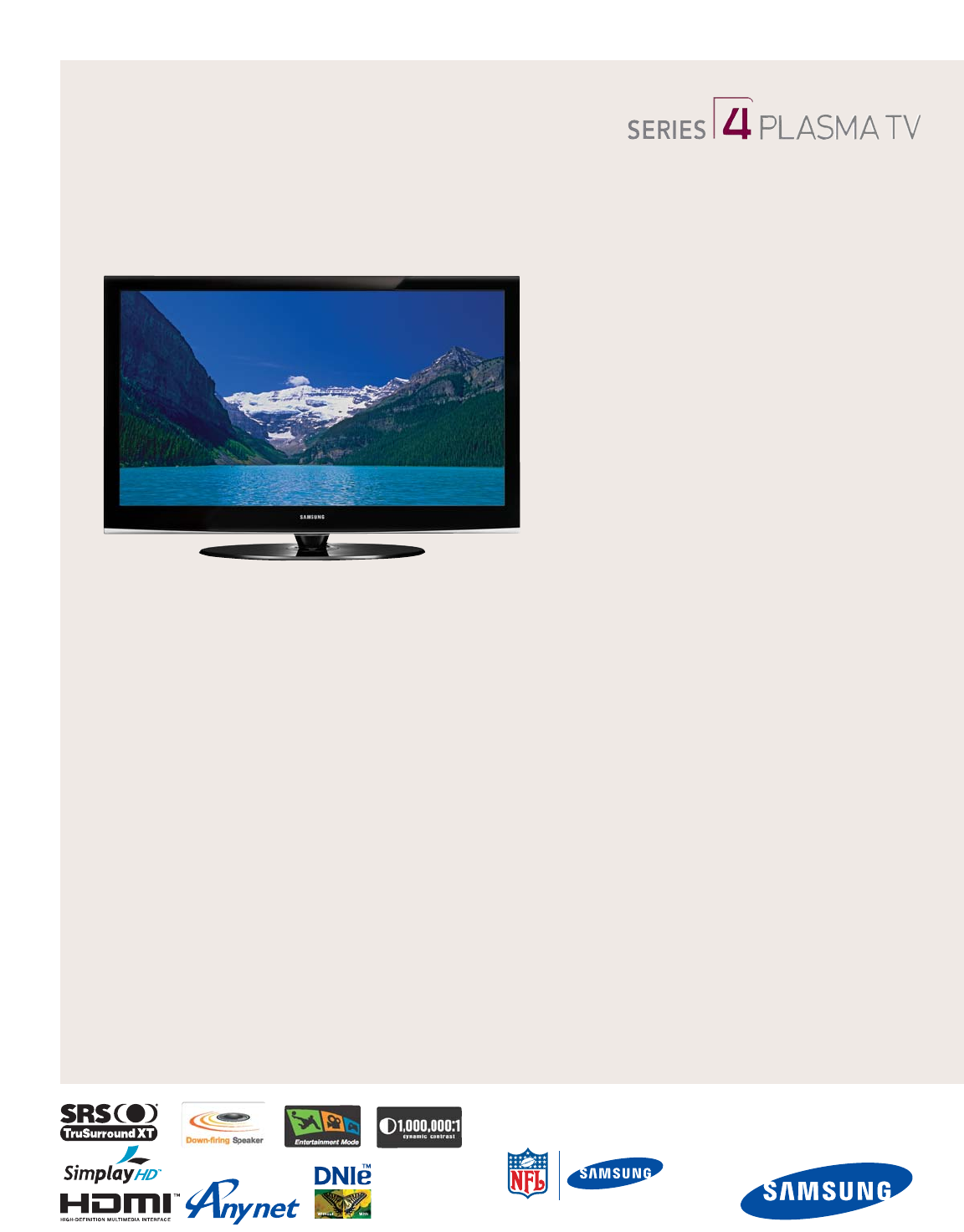 samsung flat panel television pn42a450 user guide manualsonline com Samsung Phones Owner's Manual Samsung Phones Owner's Manual