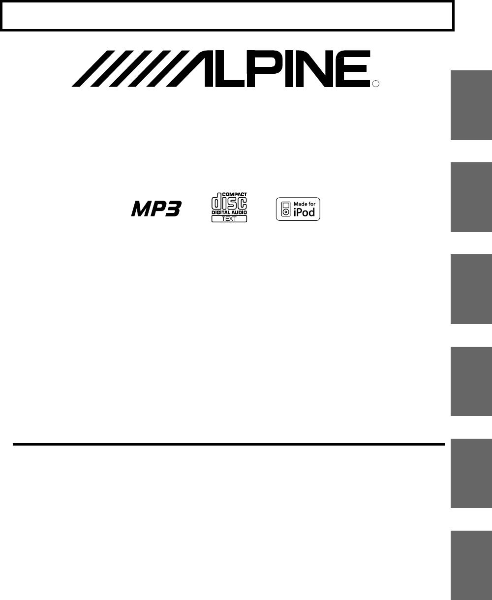 Alpine Car Stereo System CDE-9870R User Guide | ManualsOnline.com