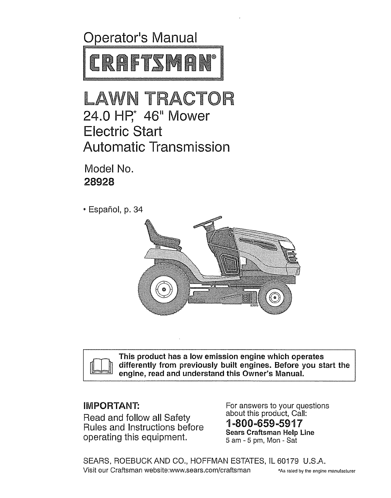 Craftsman Lt1000 Mower Manual : Craftsman model wiring diagram