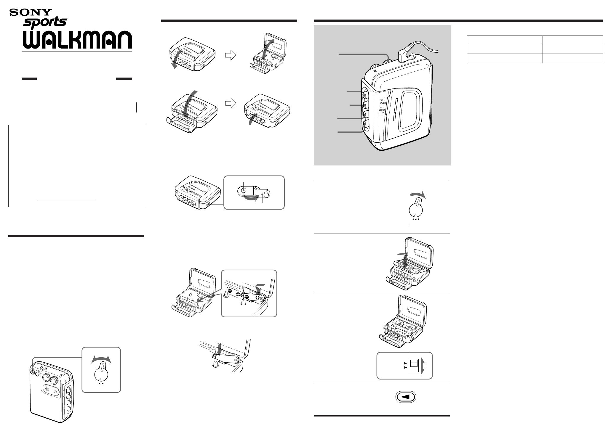 sony cassette player wm fs191 user guide manualsonline com rh audio manualsonline com sony walkman wm-fx 281 user manual sony walkman user guide